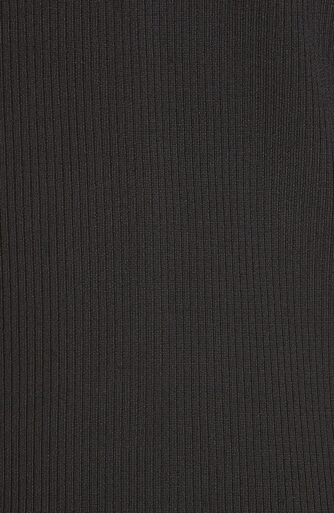 Handkerchief Hem Knit Dress,                             Alternate thumbnail 5, color,                             Black