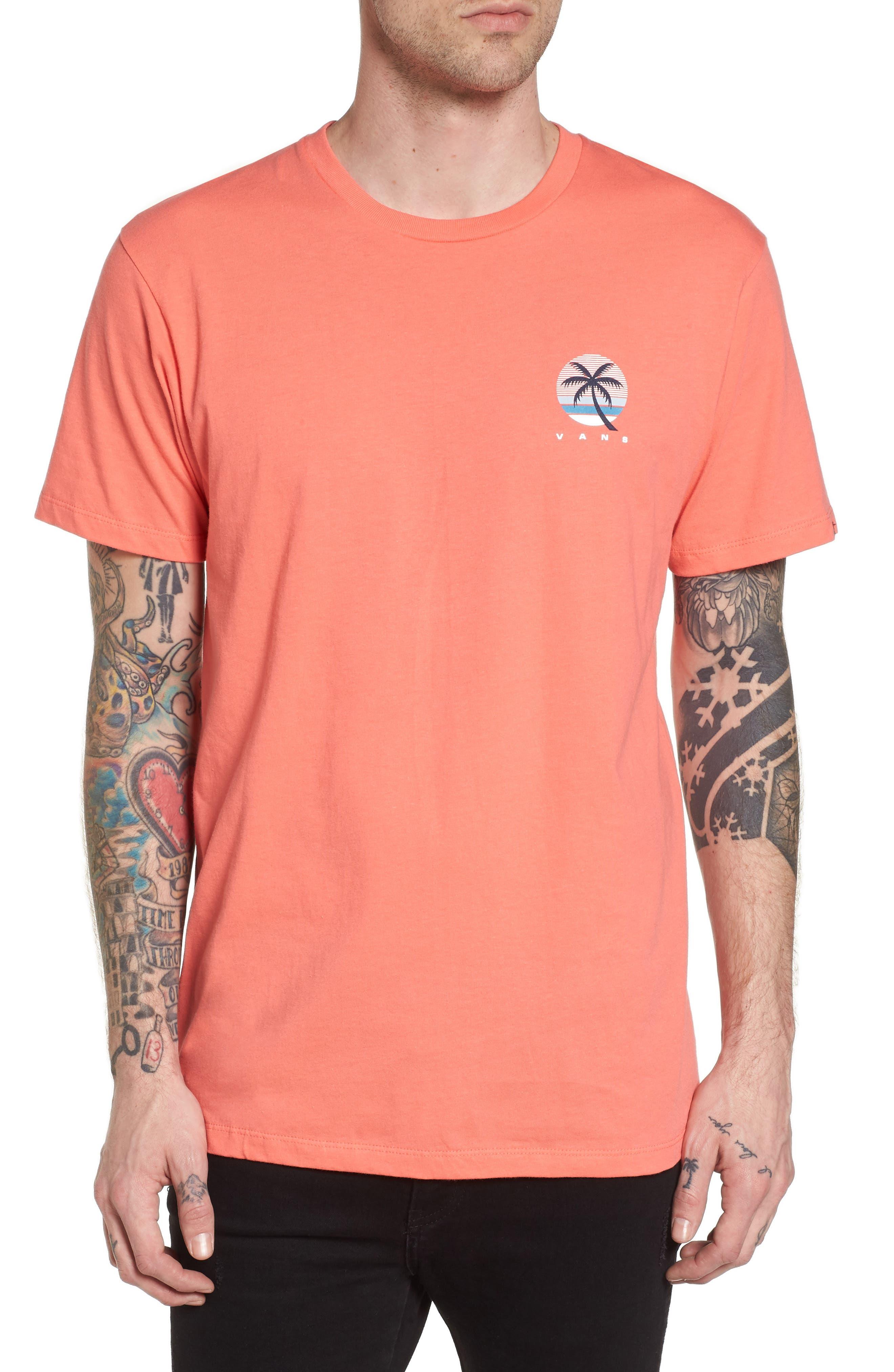 Tall Palms Graphic T-Shirt,                             Main thumbnail 1, color,                             Dubarry