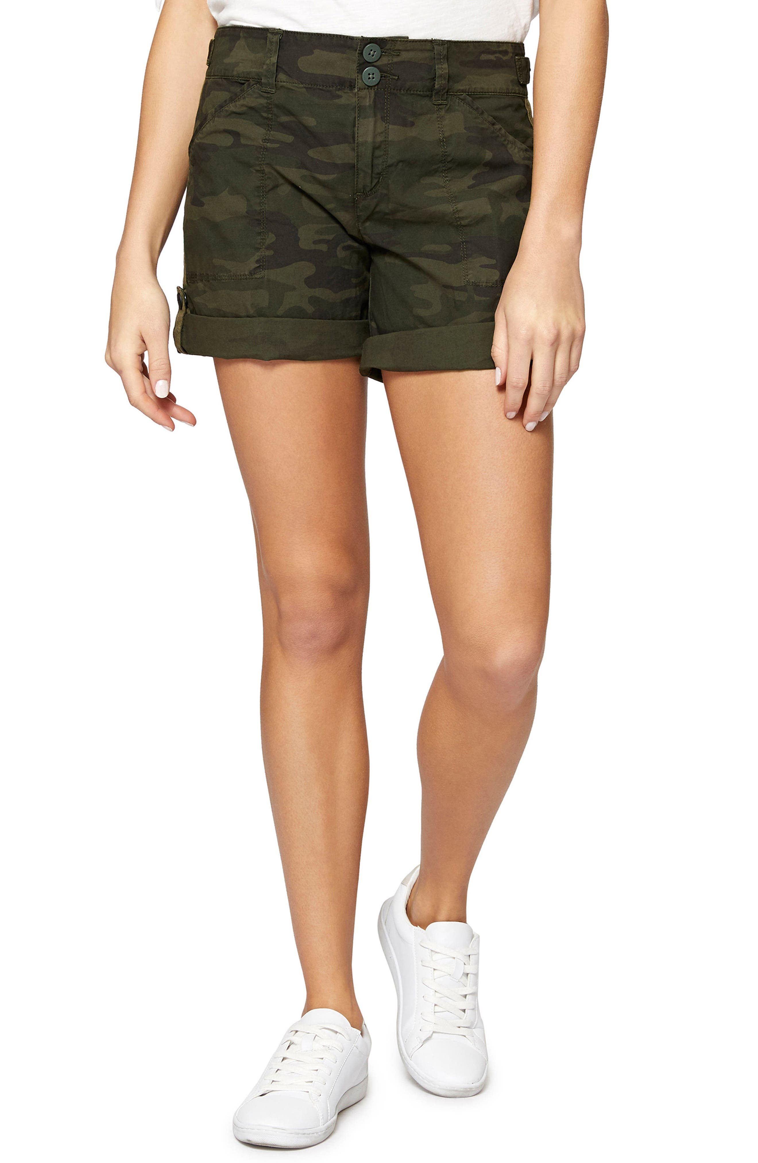 Wanderer Camouflage Shorts,                             Main thumbnail 1, color,                             Mother Nature Camo
