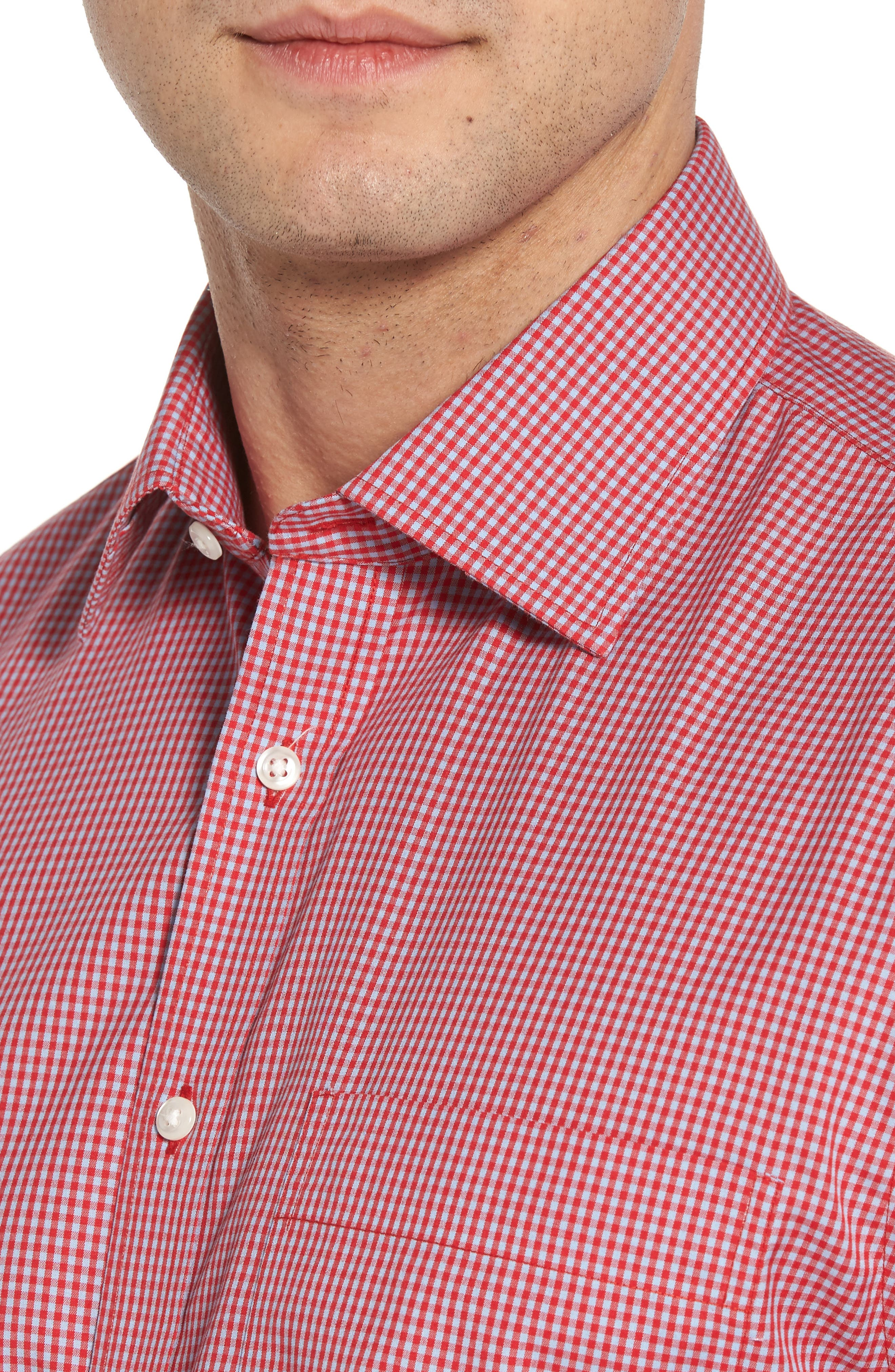 Alternate Image 4  - Nordstrom Men's Shop Smartcare Classic Fit Check Dress Shirt