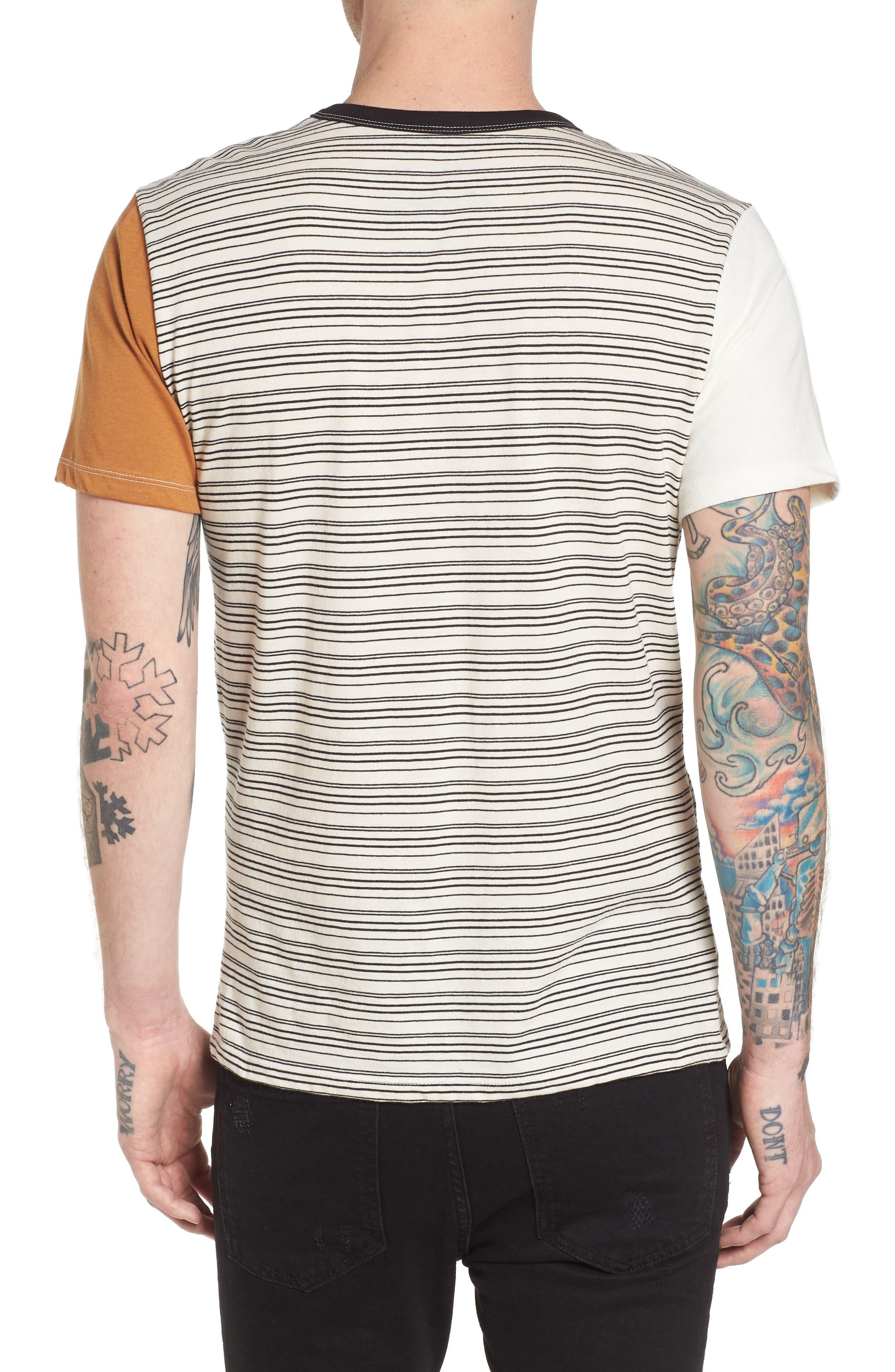 Blocked Ringer T-Shirt,                             Alternate thumbnail 2, color,                             Ivory Black Block Stripe