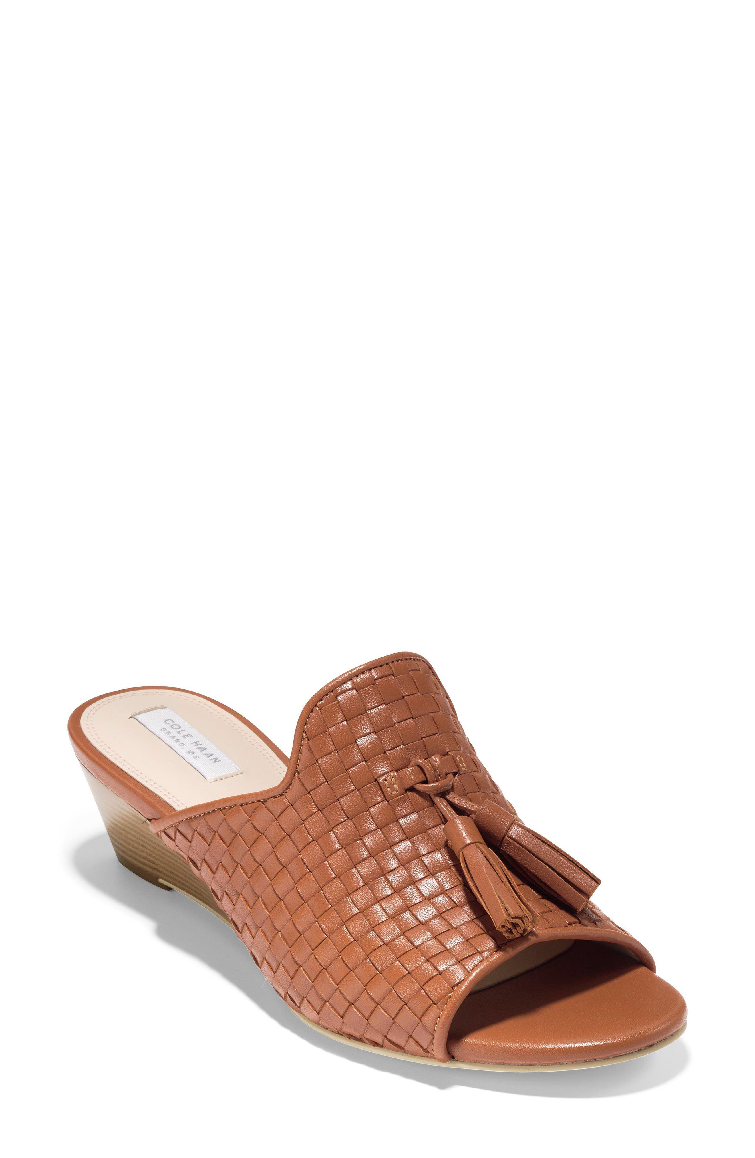 Jagger Wedge Sandal,                             Main thumbnail 1, color,                             Acorn Leather