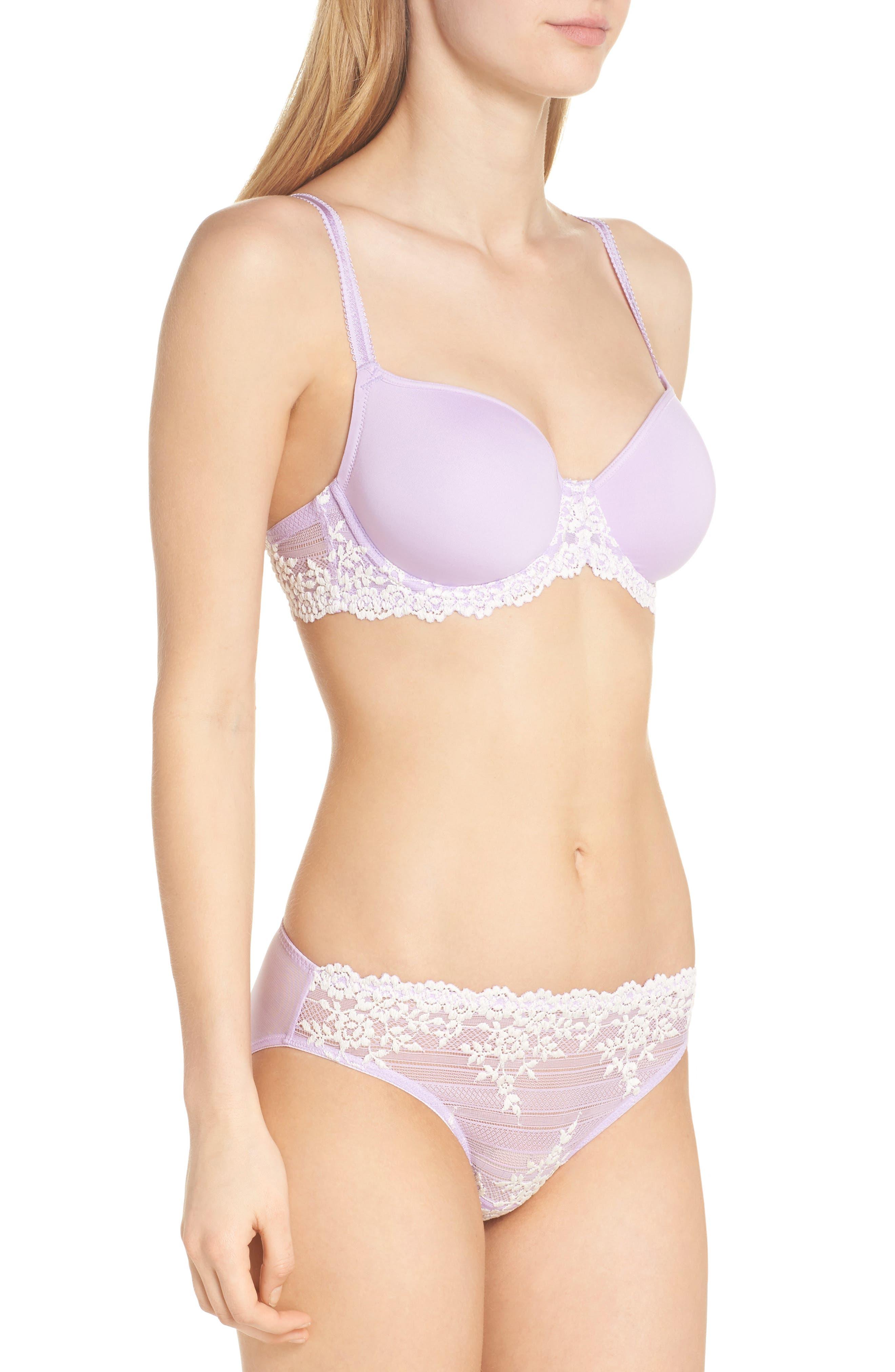 'Embrace' Lace Bikini,                             Alternate thumbnail 6, color,                             Lavender