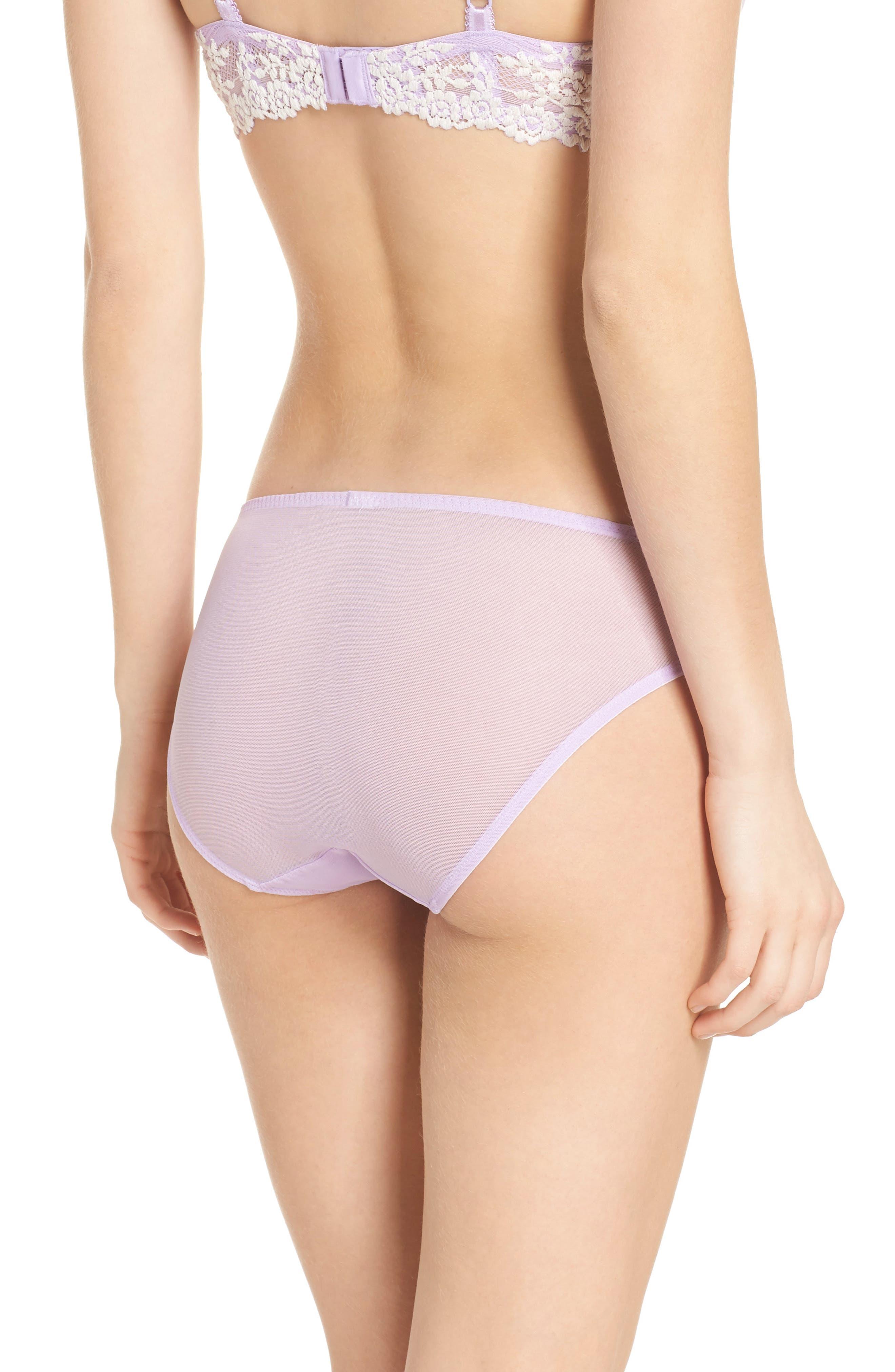 'Embrace' Lace Bikini,                             Alternate thumbnail 2, color,                             Lavender