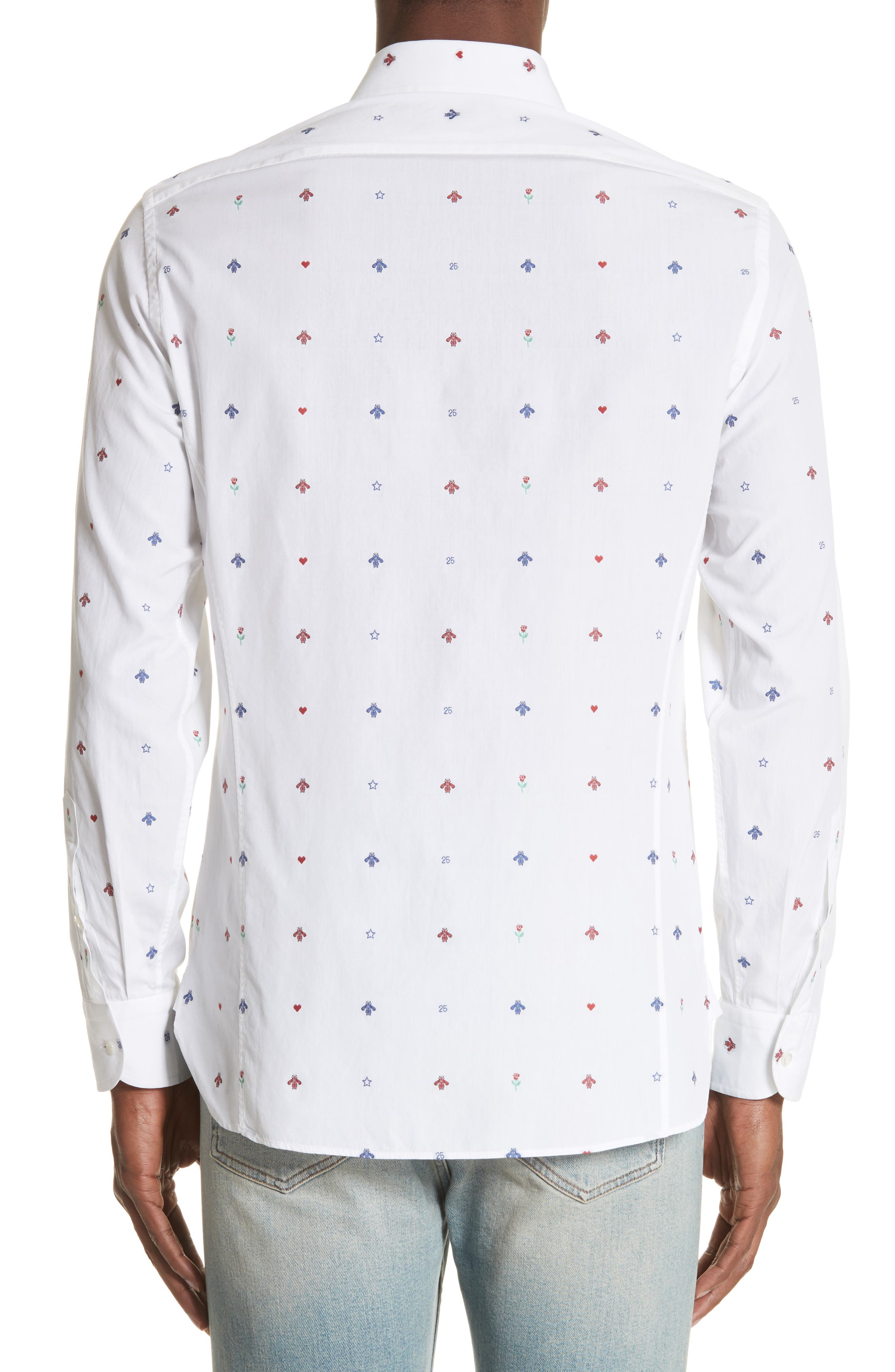 Alternate Image 3  - Gucci Allover Bee Print Woven Shirt