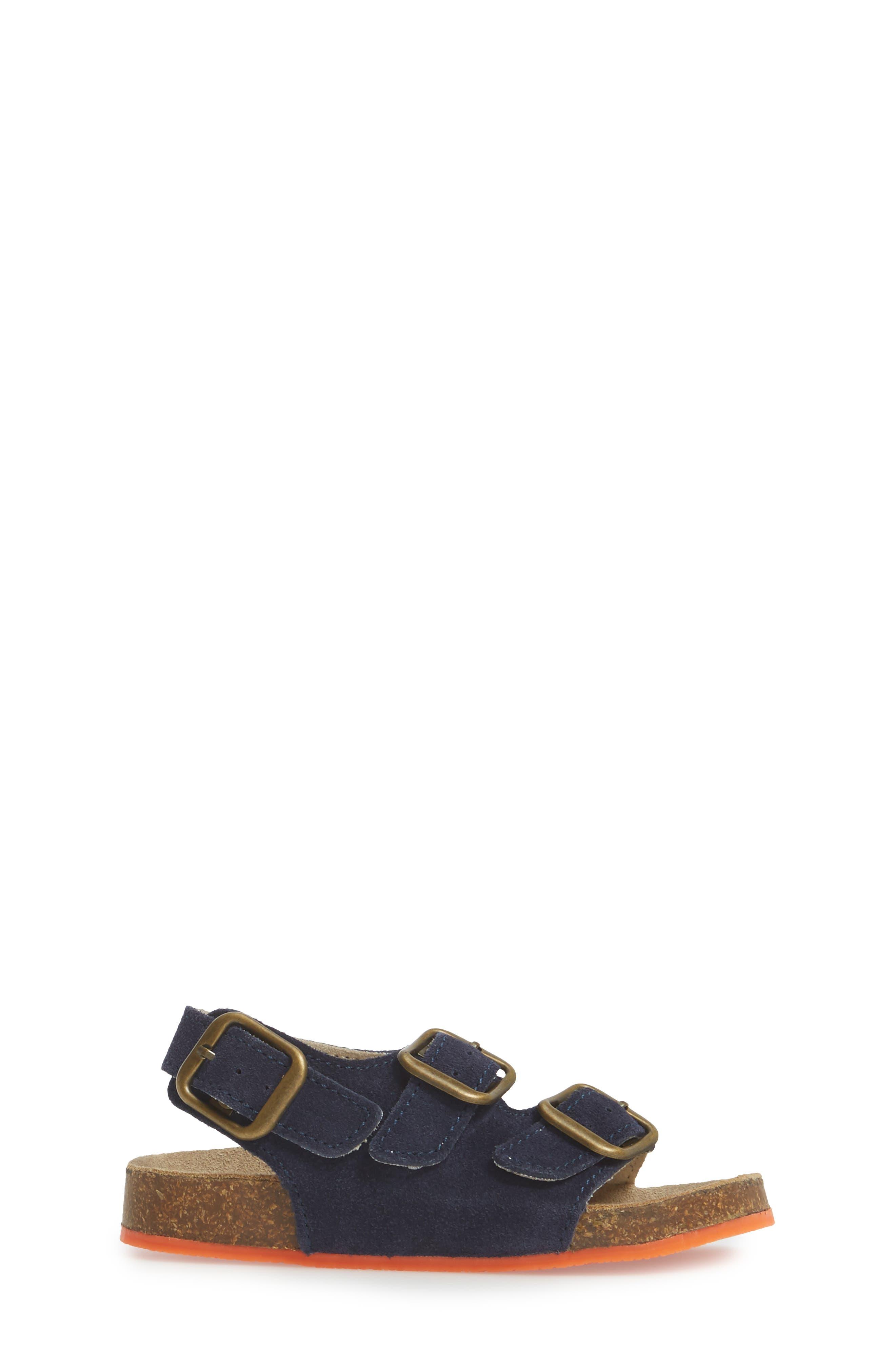 Sandal,                             Alternate thumbnail 3, color,                             School Navy