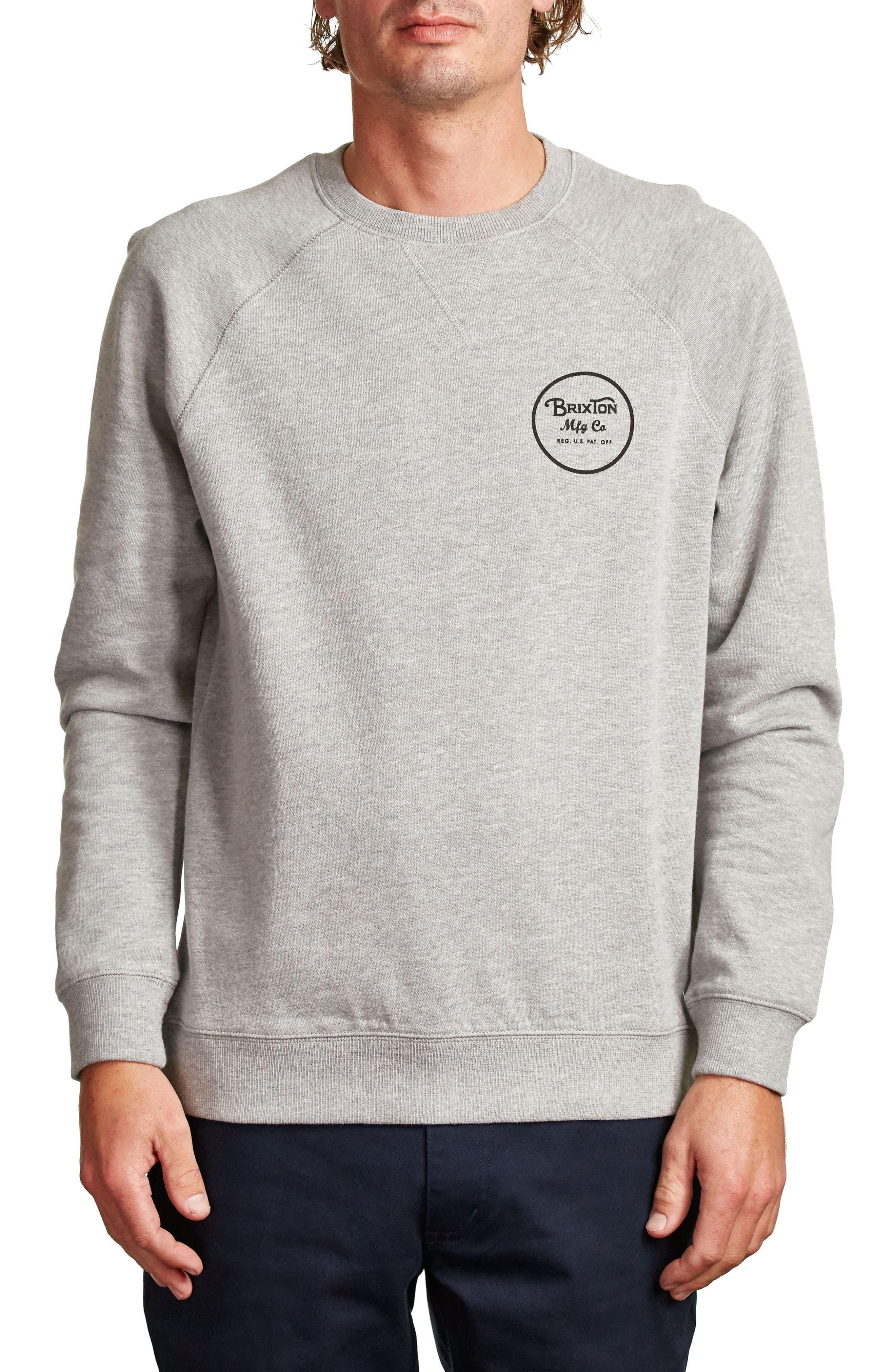 Wheeler Sweatshirt,                         Main,                         color, Heather Grey