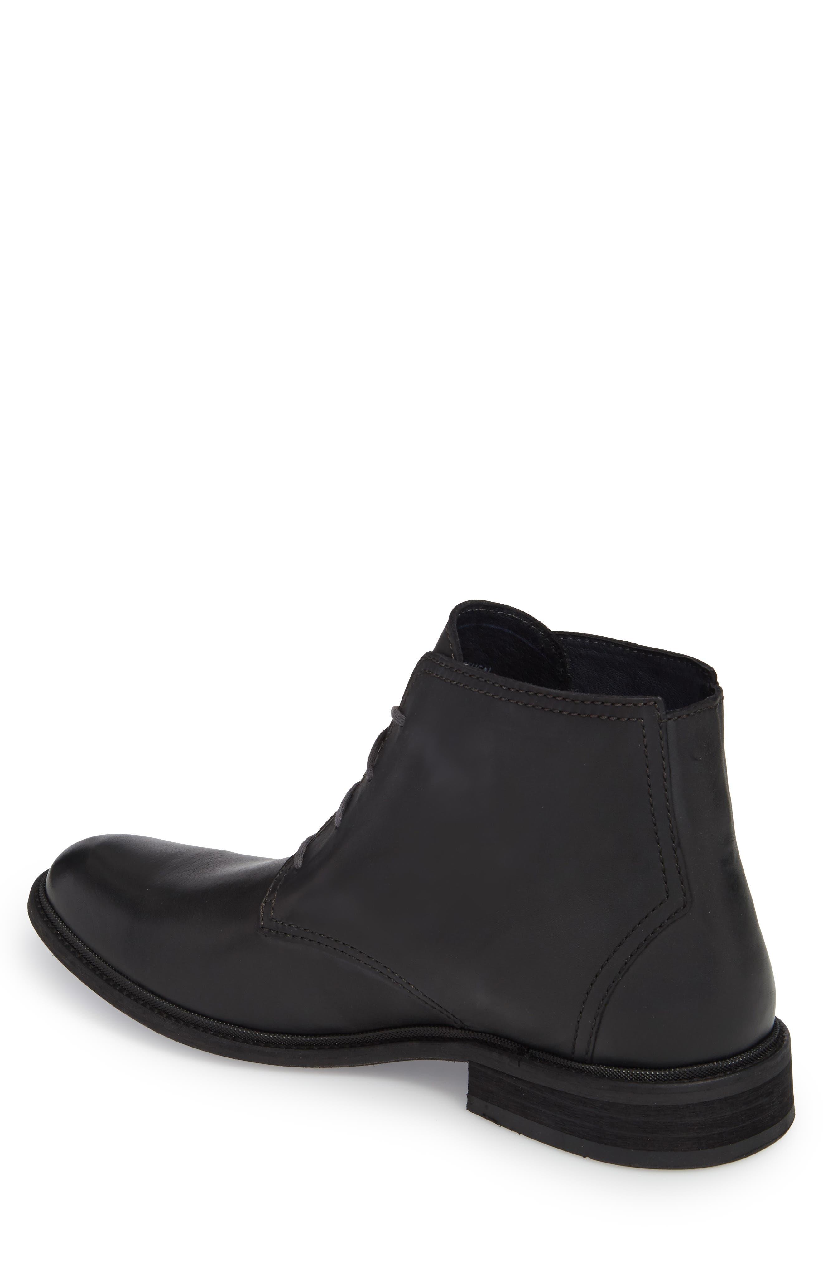 Hobi Plain Toe Chukka Boot,                             Alternate thumbnail 2, color,                             Black Leather