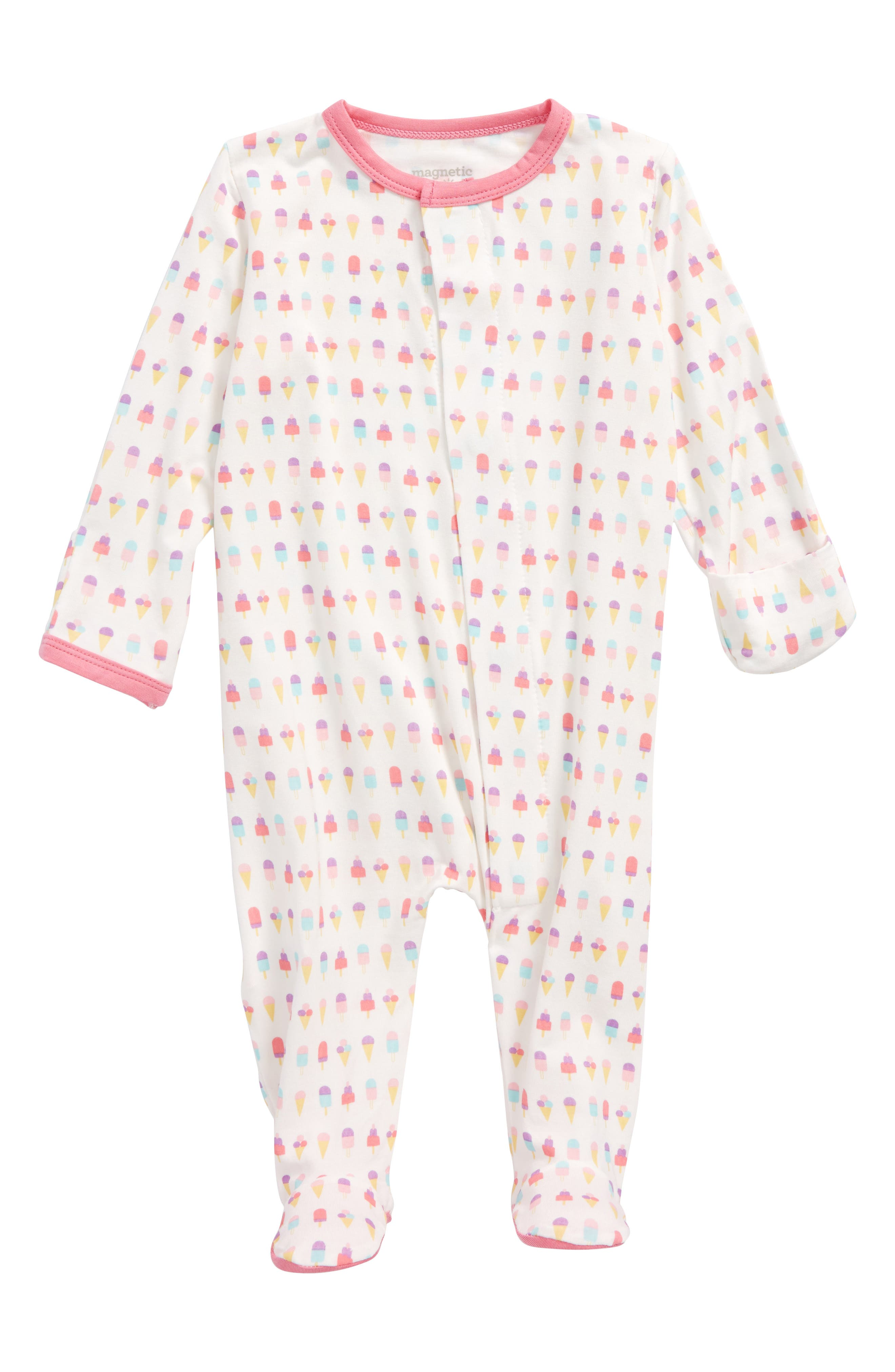 Magnetic Me Ice Cream Print Footie (Baby Girls)