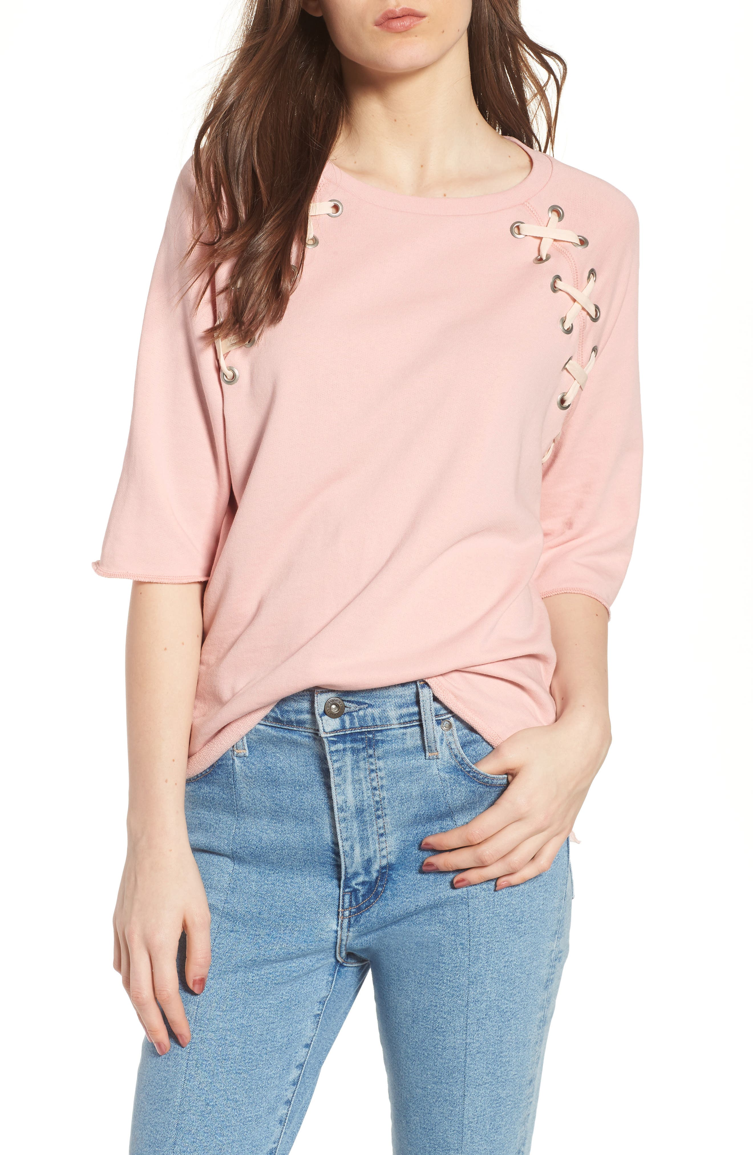South Parade Julie - Zigzag Eyelets Terry Top