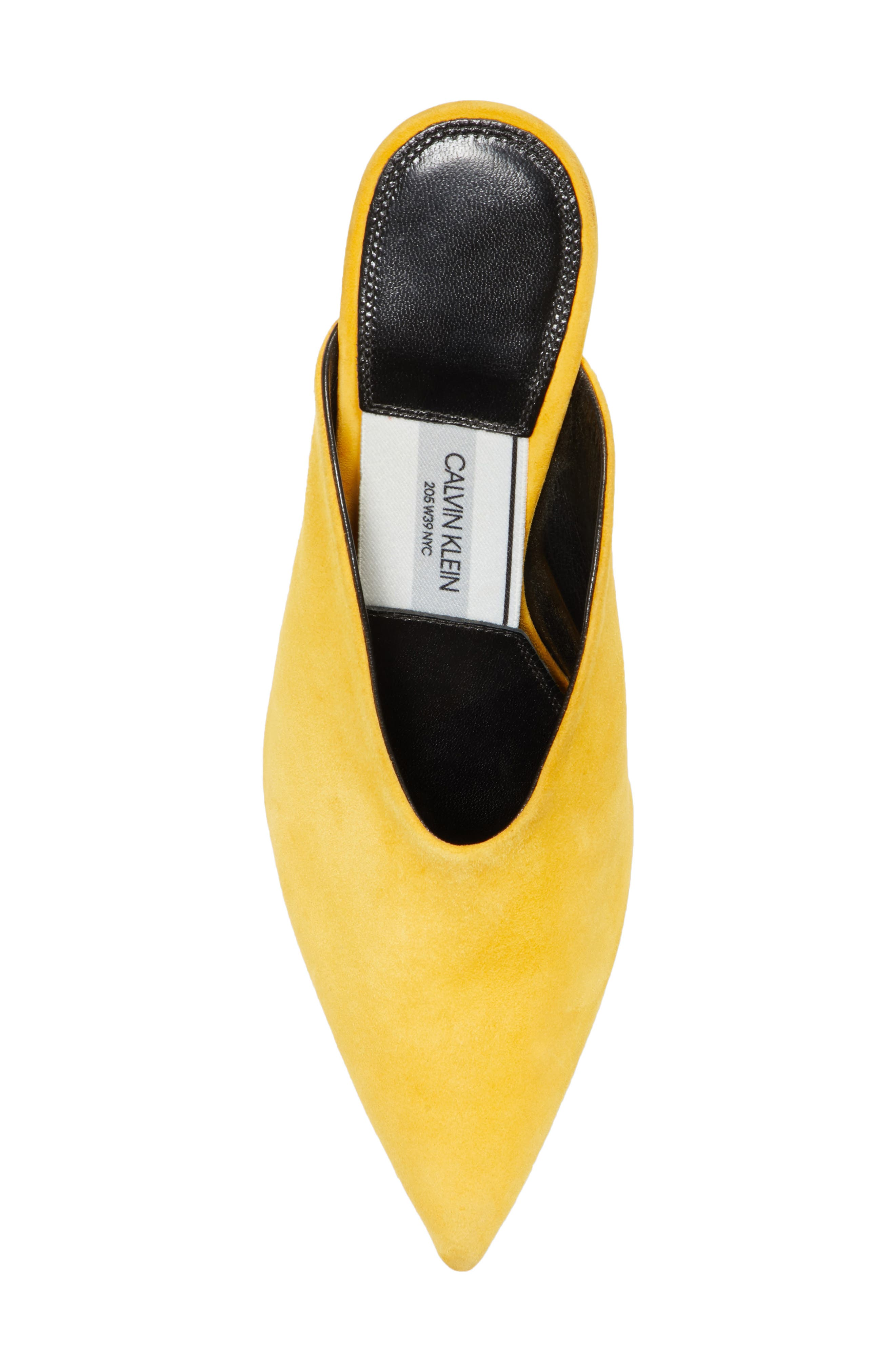 Roslynn Pointy Toe Mule,                             Alternate thumbnail 5, color,                             Sun Yellow