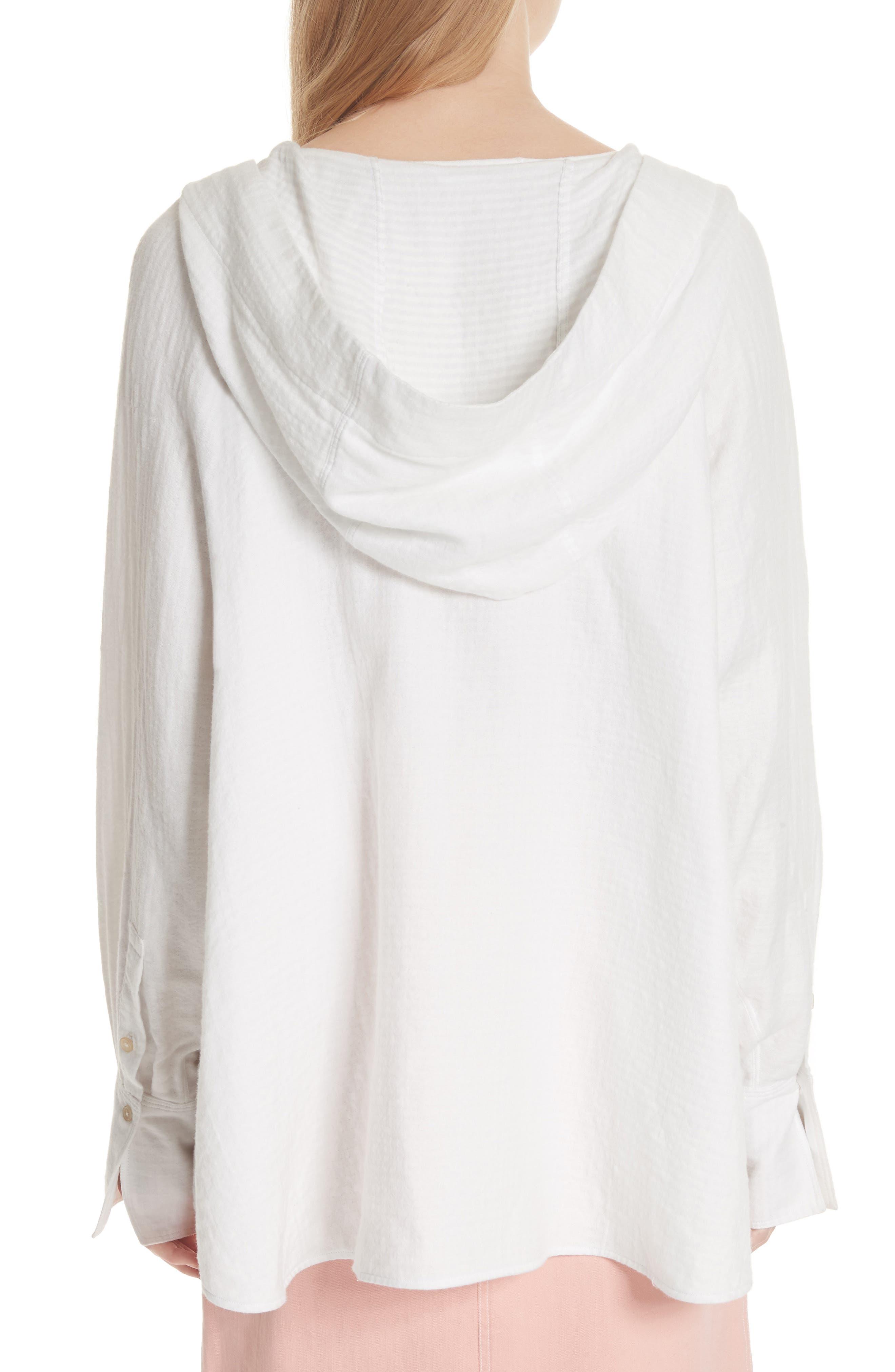 Carson Hooded Shirt,                             Alternate thumbnail 2, color,                             White