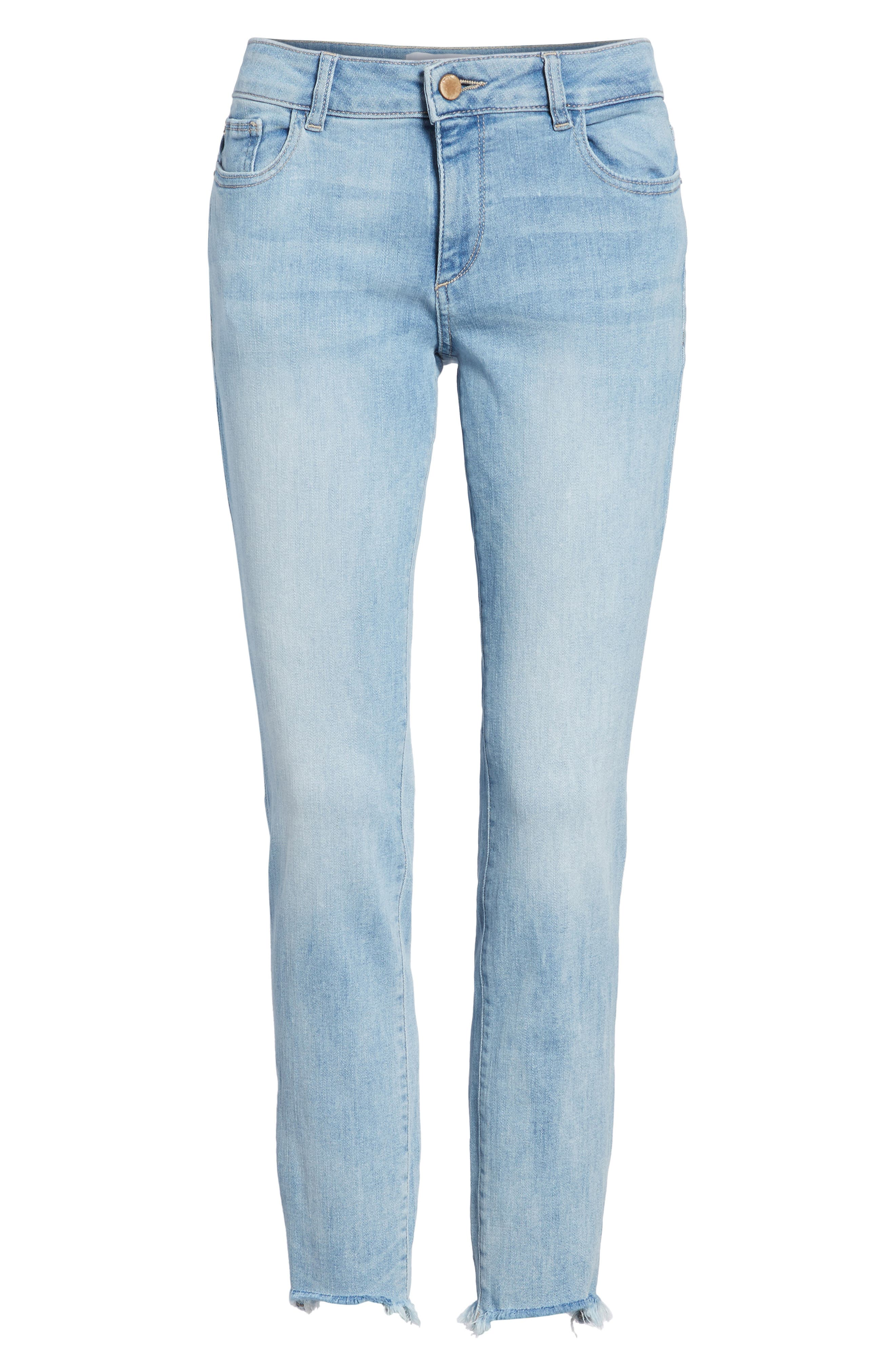 Coco Curvy Ankle Skinny Jeans,                             Alternate thumbnail 6, color,                             Kelso
