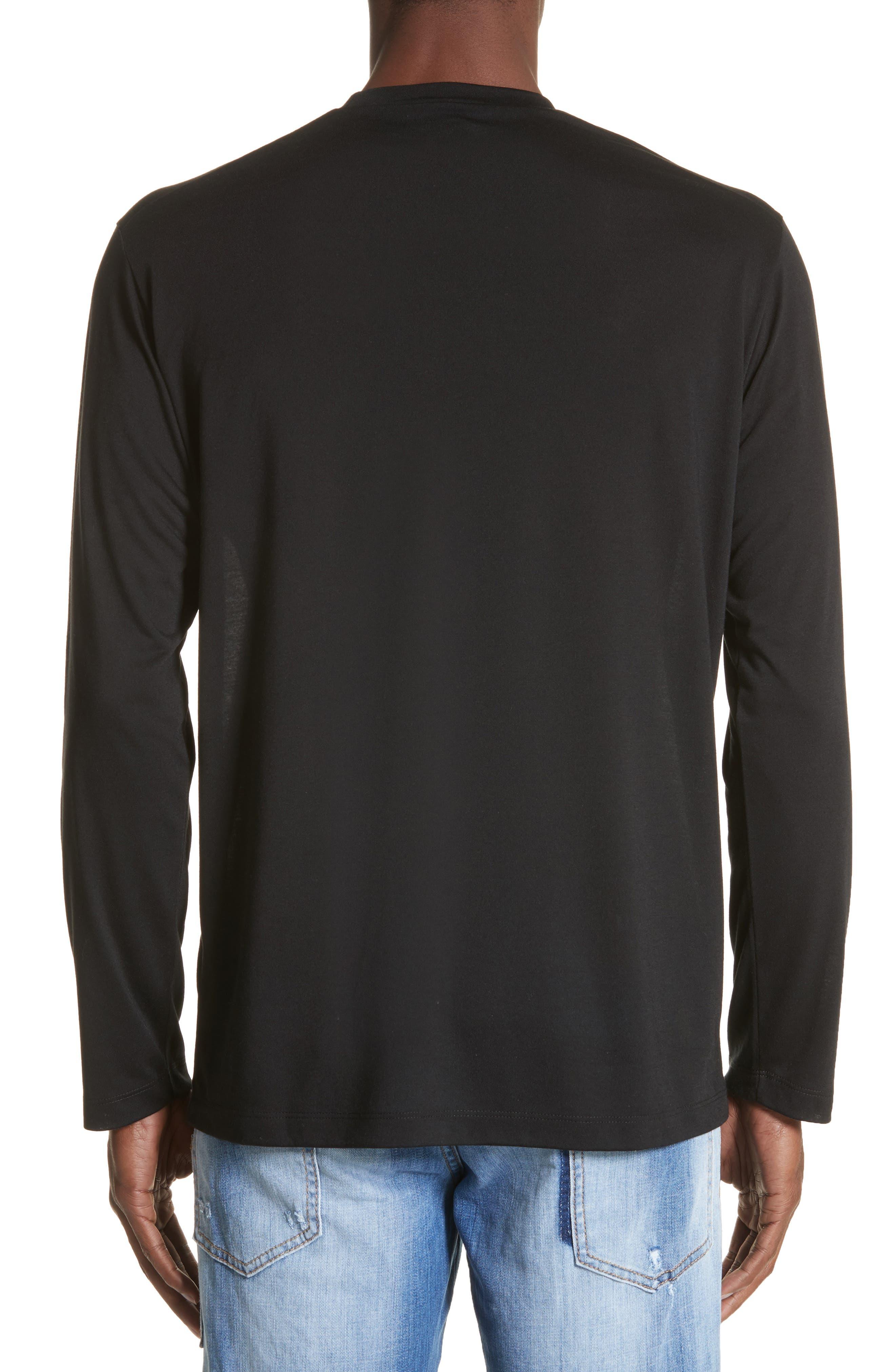 Logo Graphic Long Sleeve T-Shirt,                             Alternate thumbnail 2, color,                             Black