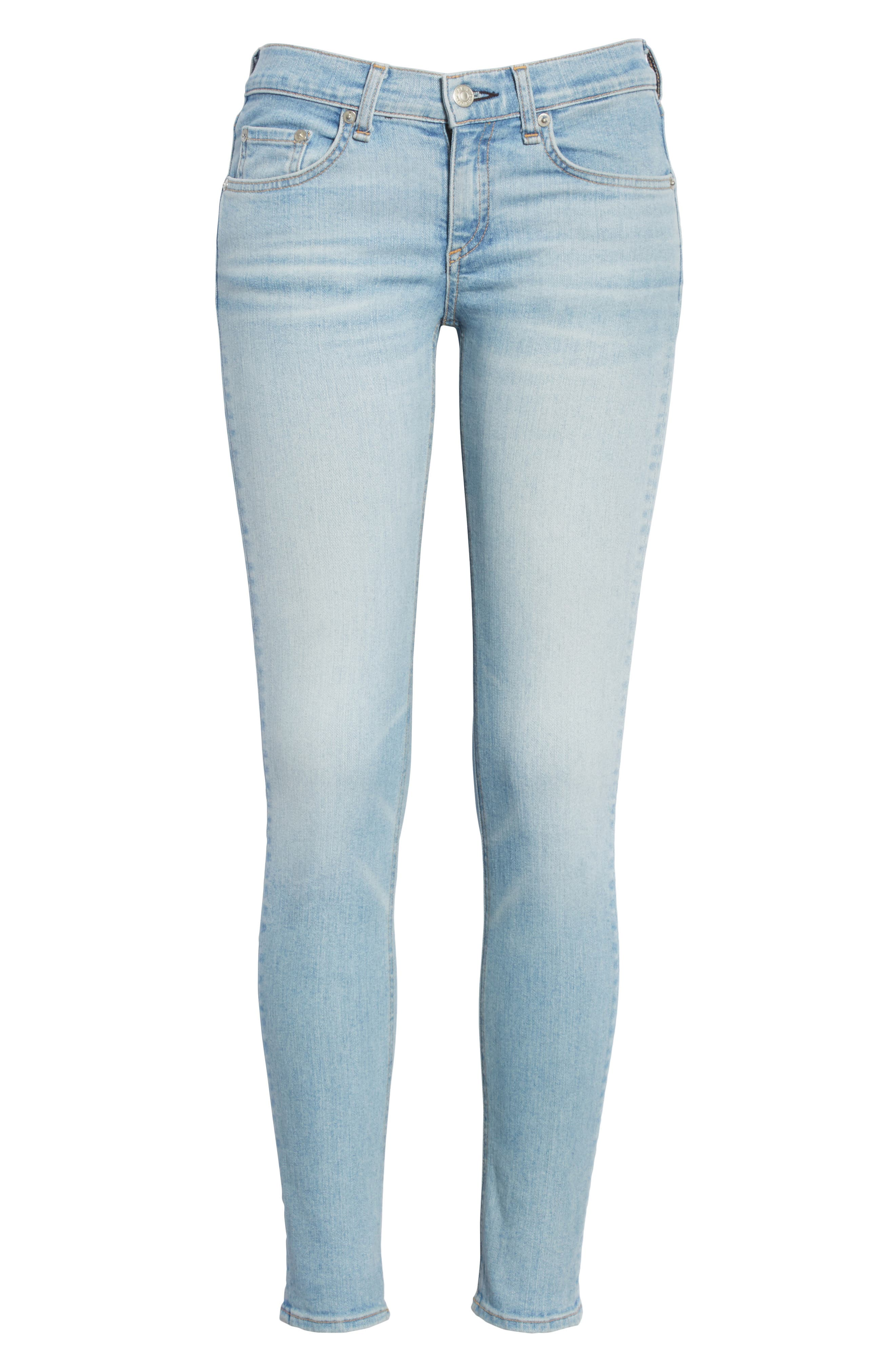 Ankle Skinny Jeans,                             Alternate thumbnail 6, color,                             Nelly