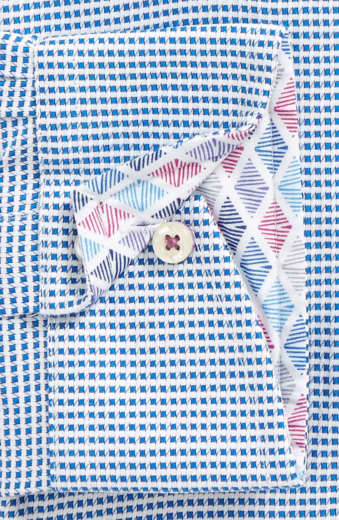 Endurance Giara Trim Fit Dress Shirt,                             Alternate thumbnail 2, color,                             Blue