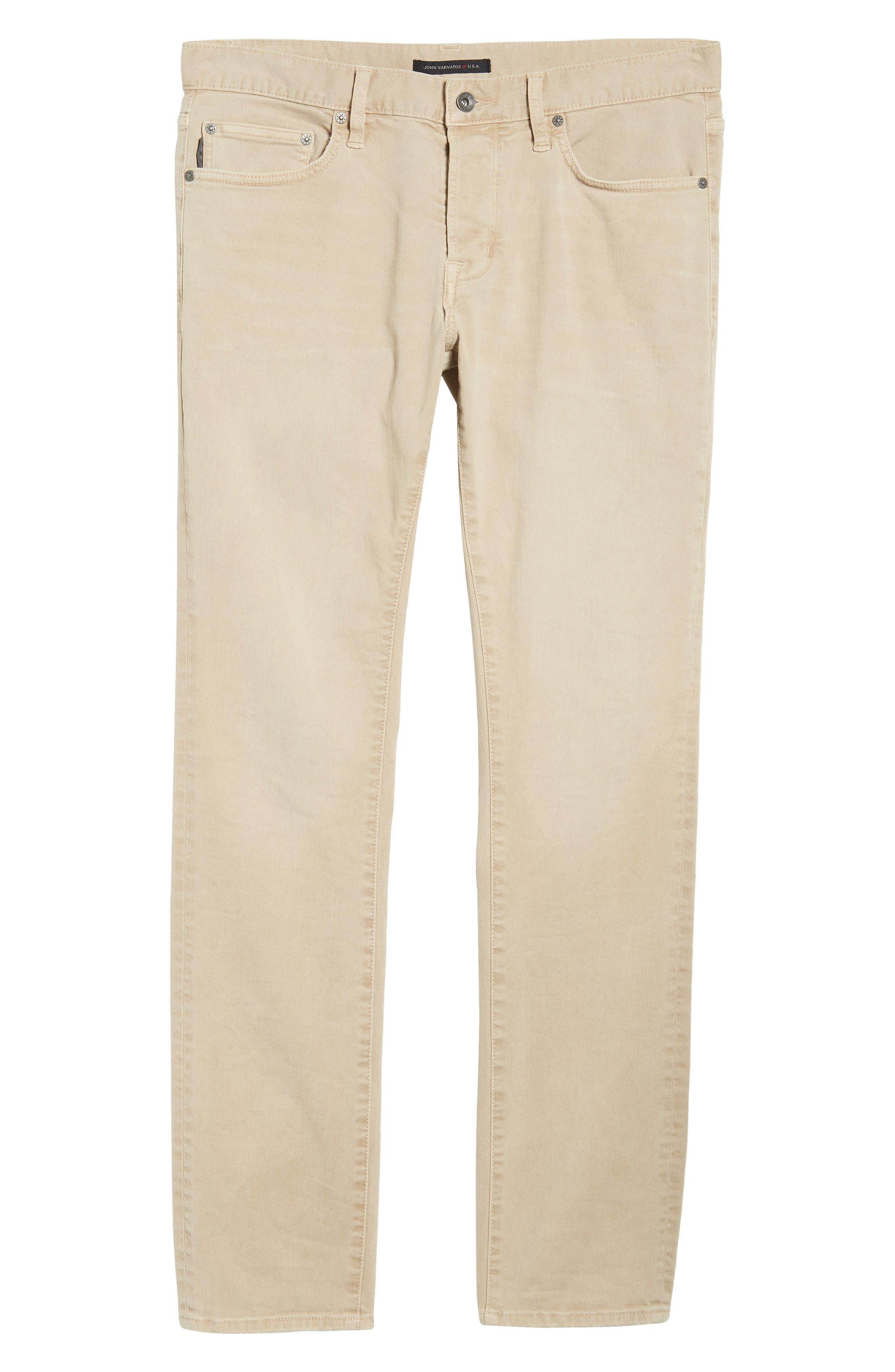 John Varvatos Star USA Wight Slim Fit Straight Leg Stretch Jeans,                             Alternate thumbnail 6, color,                             Twine