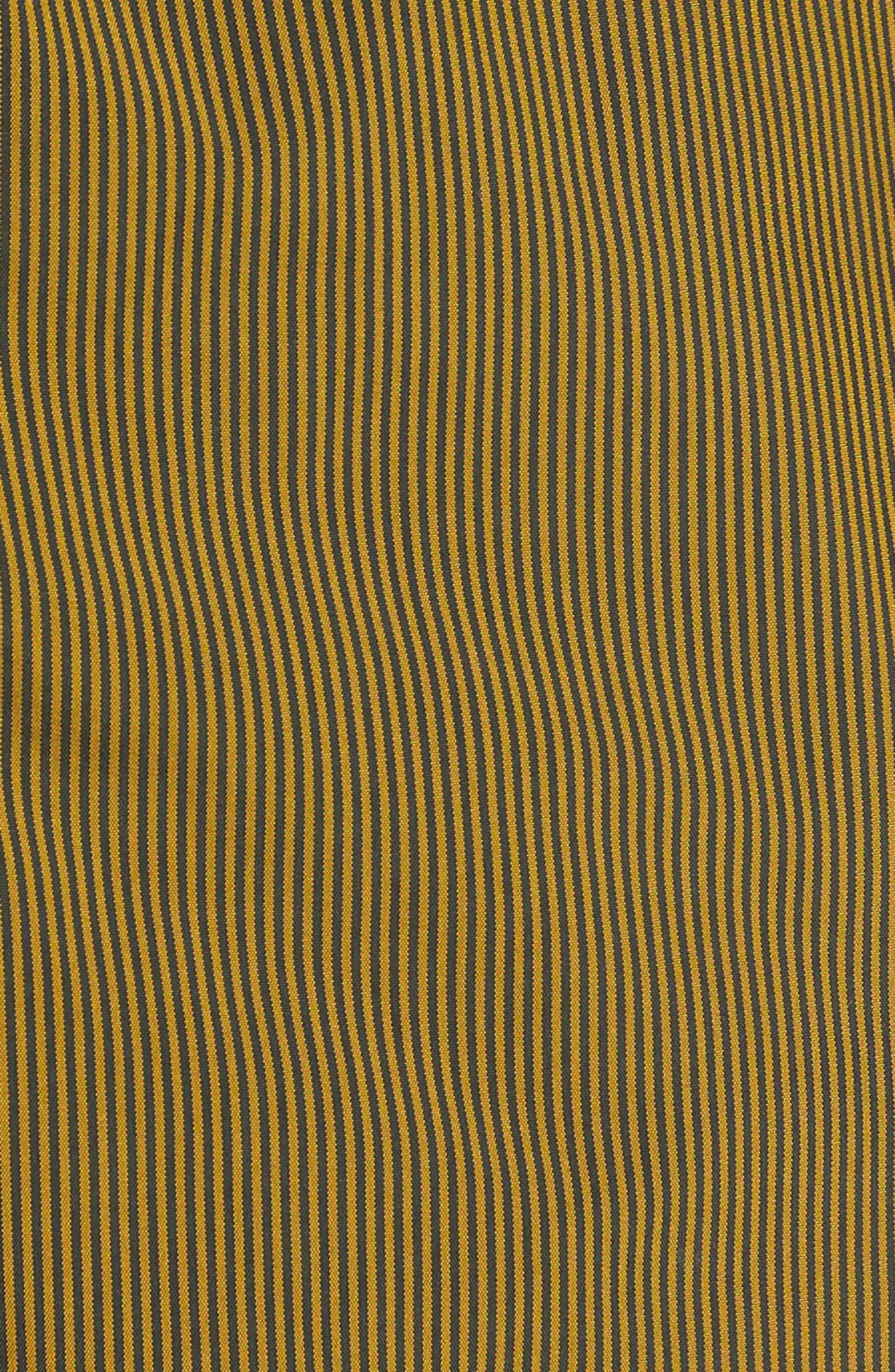 Microstripes Swim Trunks,                             Alternate thumbnail 5, color,                             Curcuma