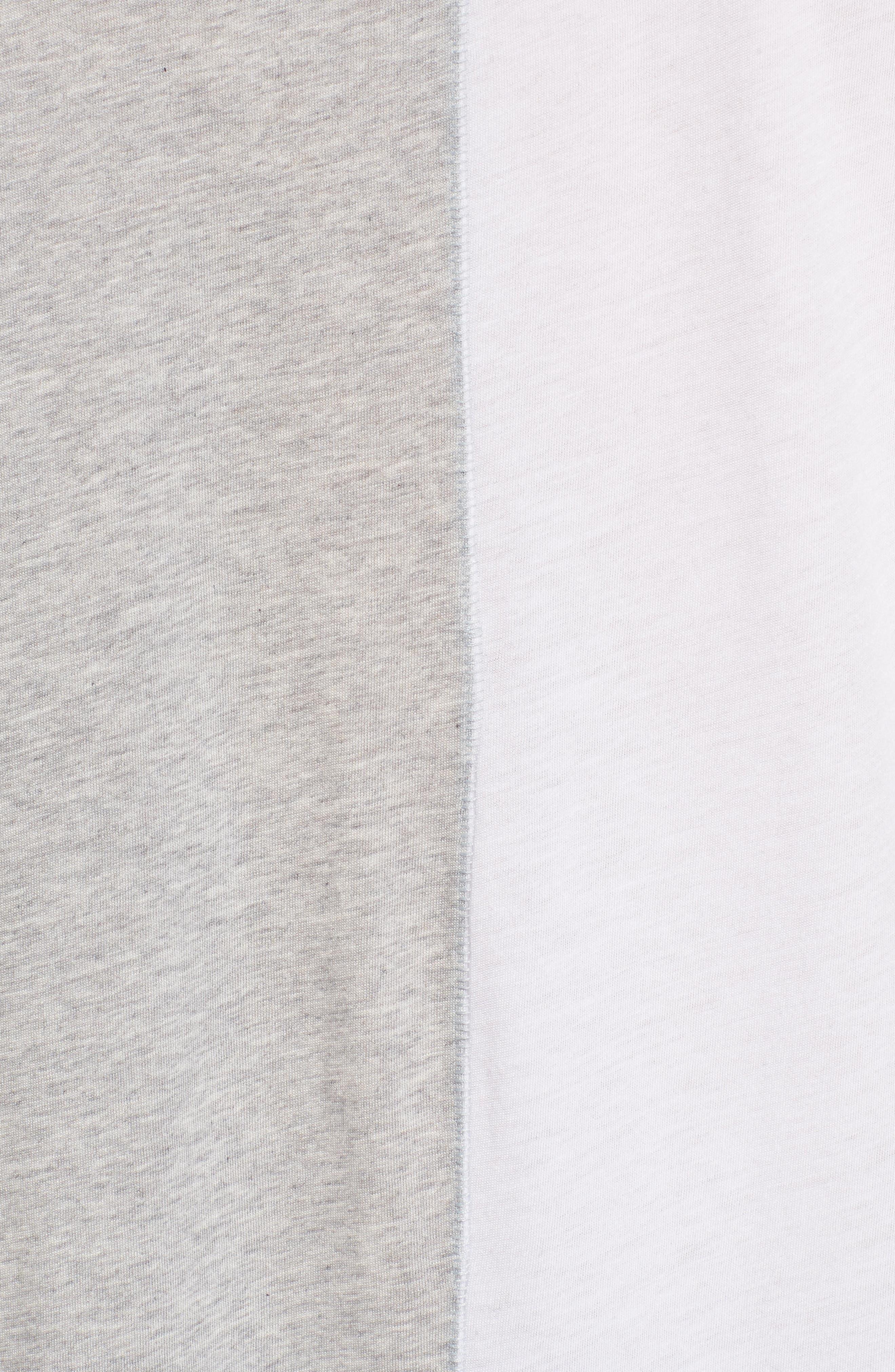 Boxy Splice T-Shirt,                             Alternate thumbnail 5, color,                             White/ Grey Heather