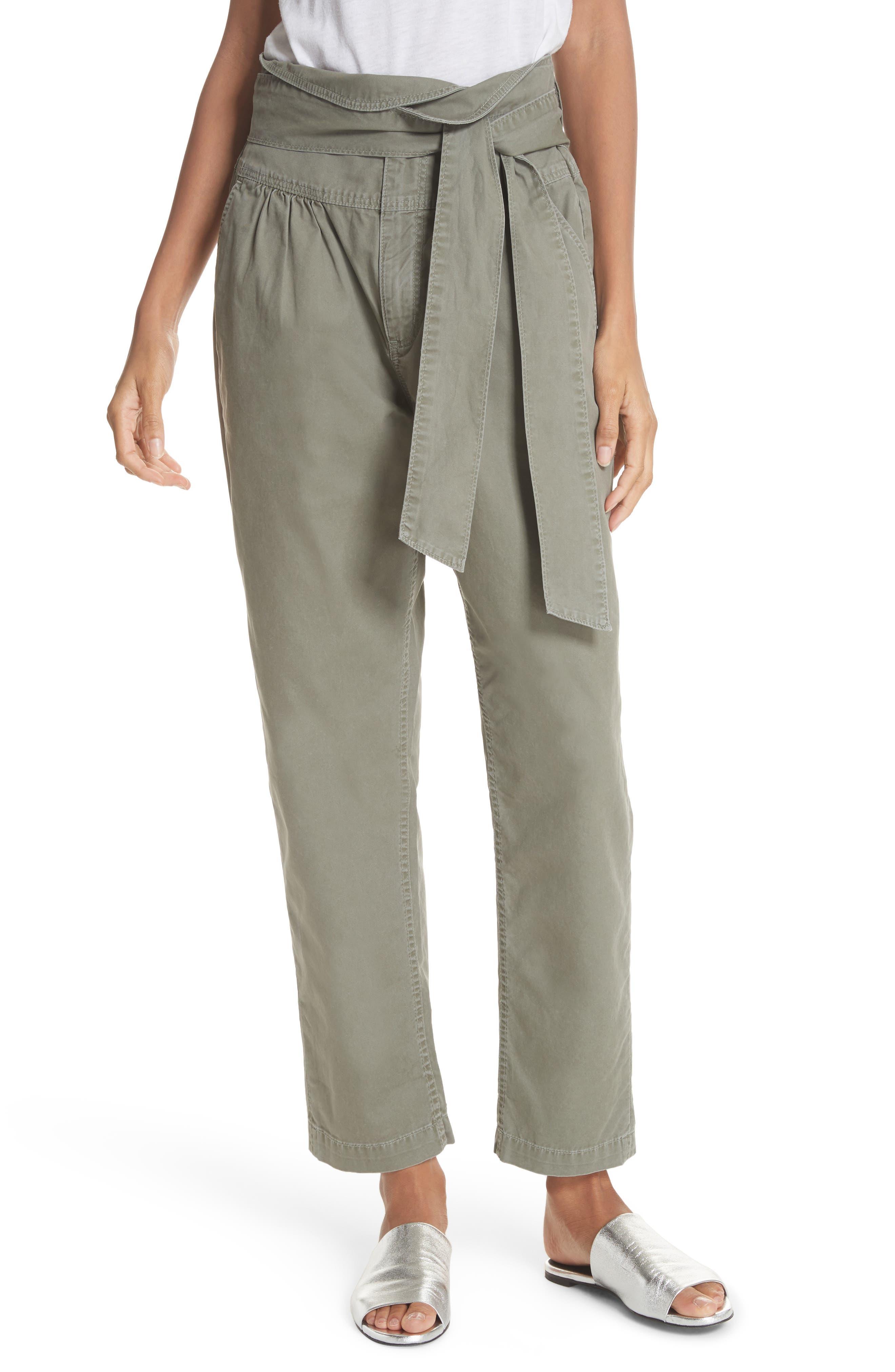 La Vie Rebecca Taylor Tie Front Paperbag Waist Pants