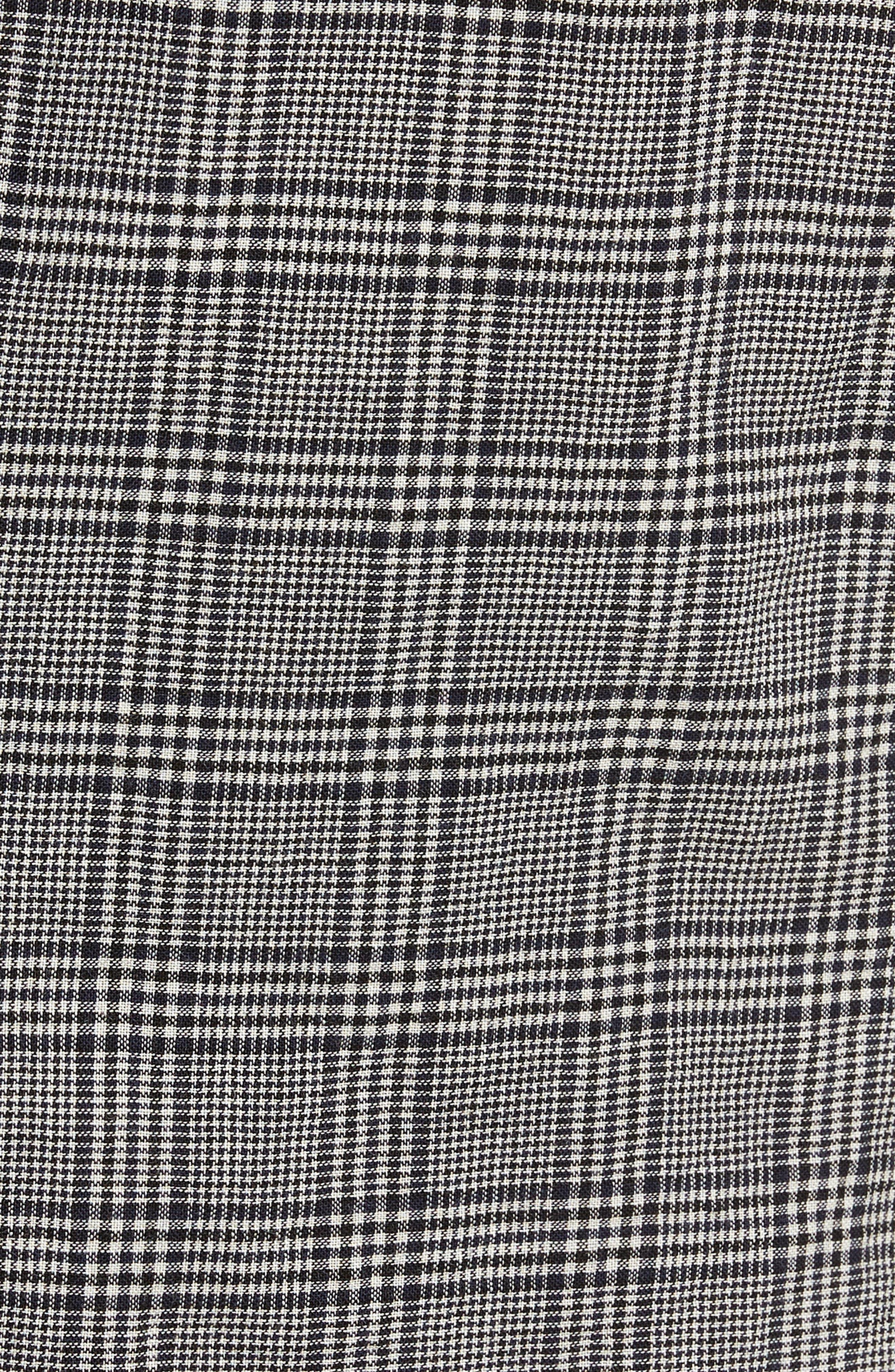 Modern Fit Plaid Wool Sport Coat,                             Alternate thumbnail 5, color,                             Black