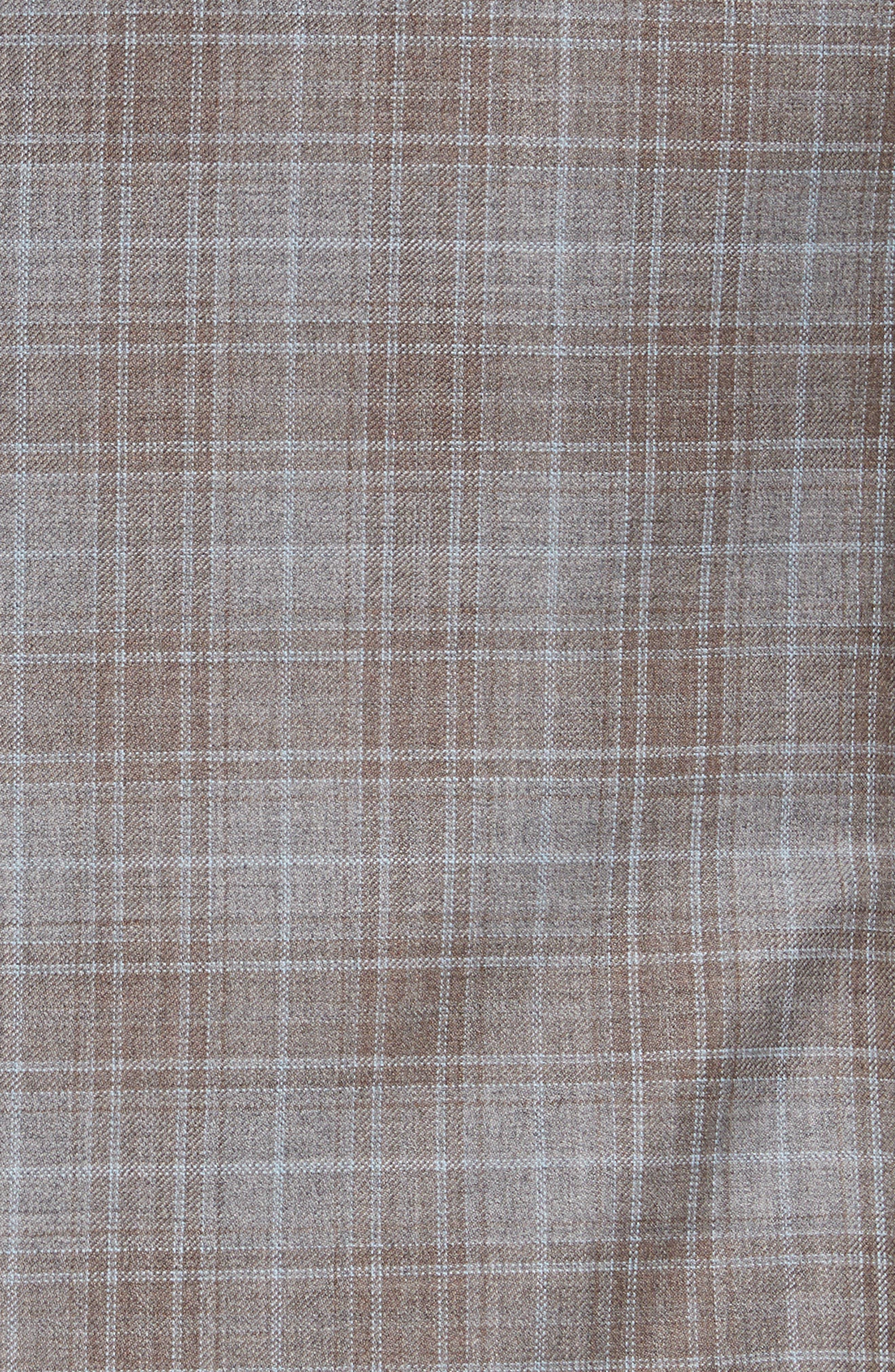 G-Line Trim Fit Plaid Wool Sport Coat,                             Alternate thumbnail 5, color,                             Tan