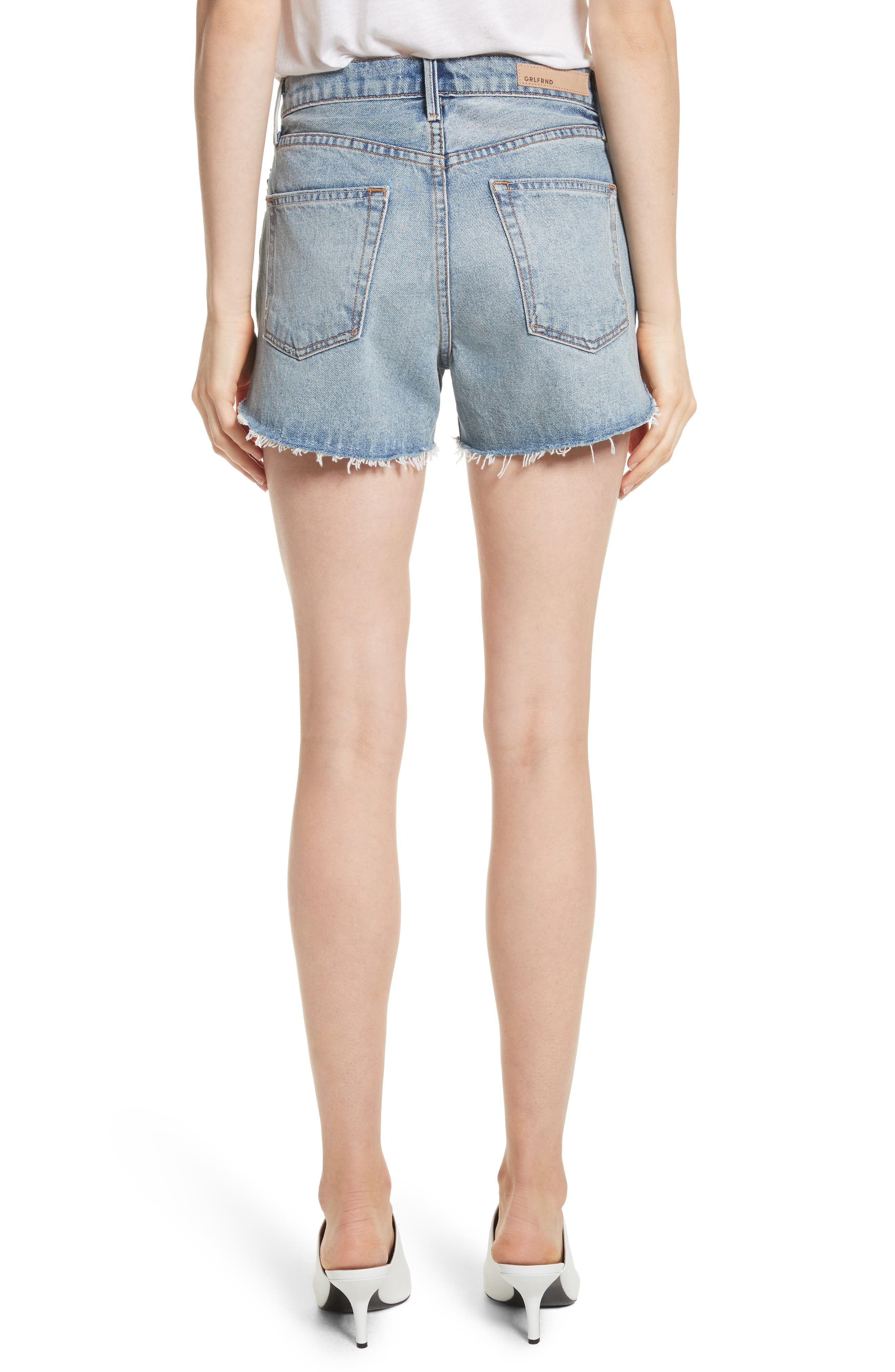 Mardee Denim Shorts,                             Alternate thumbnail 2, color,                             Twisted