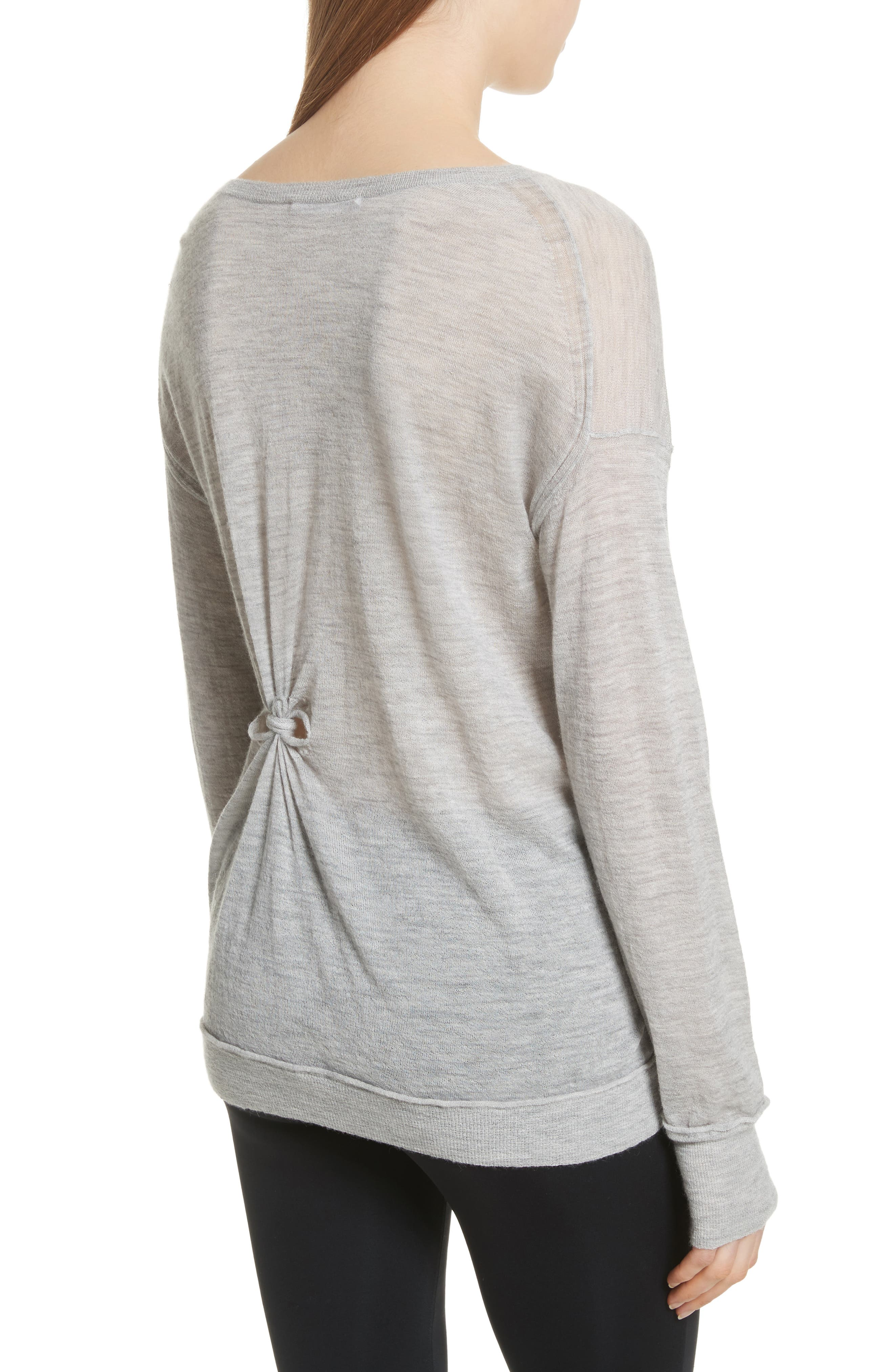Alternate Image 2  - Helmut Lang Knot Detail Cashmere Sweater