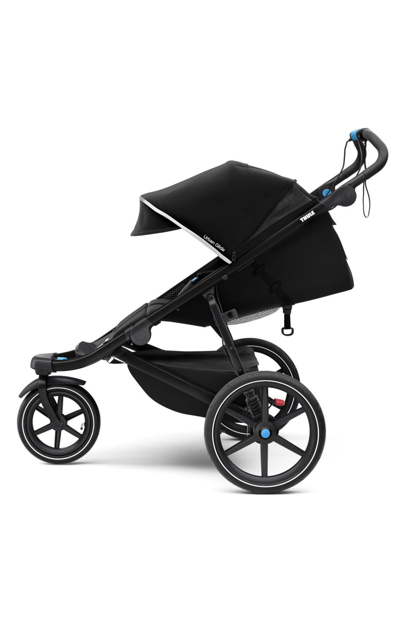 Urban Glide 2 Jogging Stroller with Silver Frame,                             Alternate thumbnail 2, color,                             Black/ Black Frame