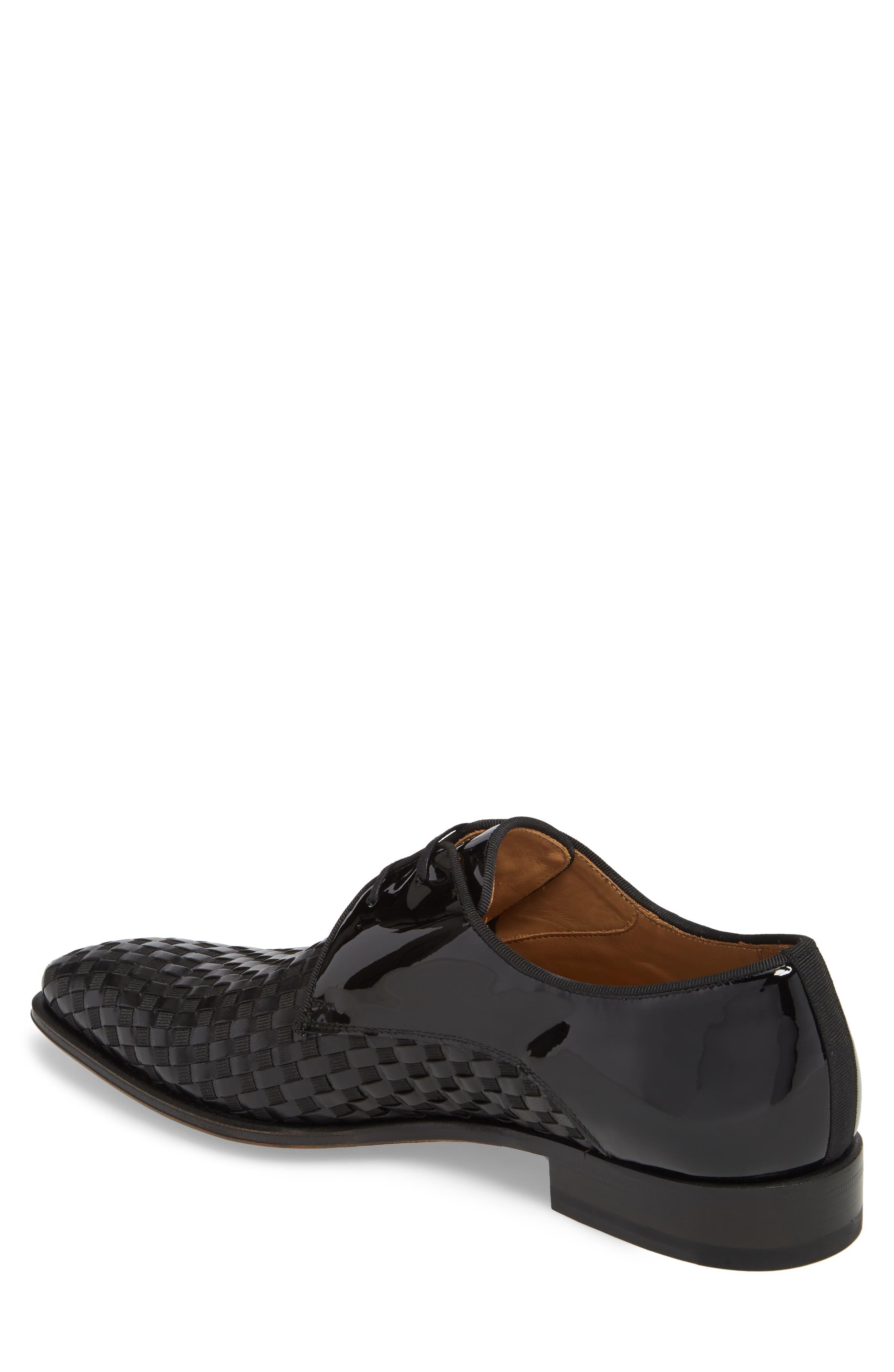 Sexto Plain Toe Derby,                             Alternate thumbnail 2, color,                             Black Leather
