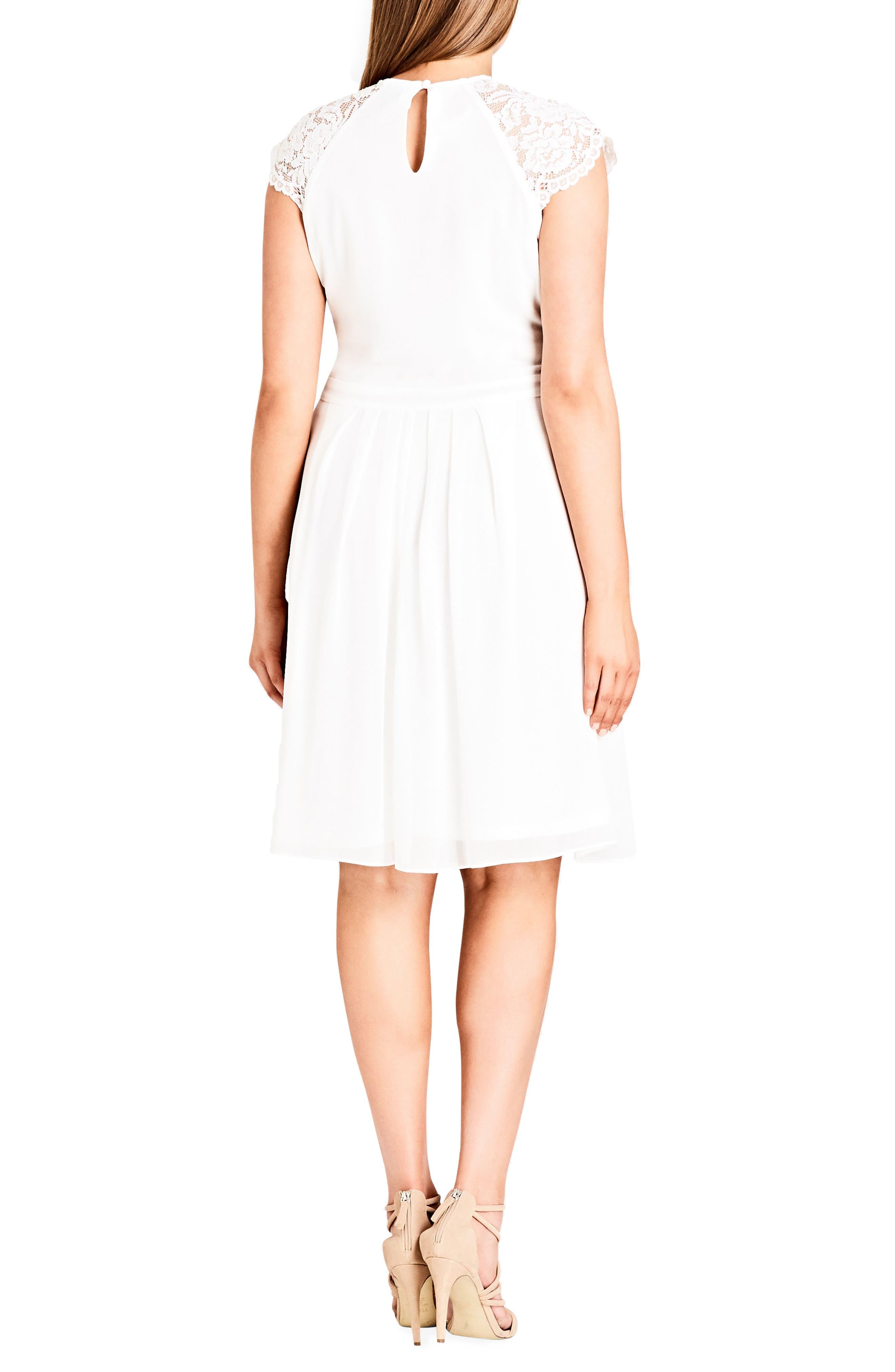 Alternate Image 2  - City Chic Lace & Chiffon Dress (Plus Size)