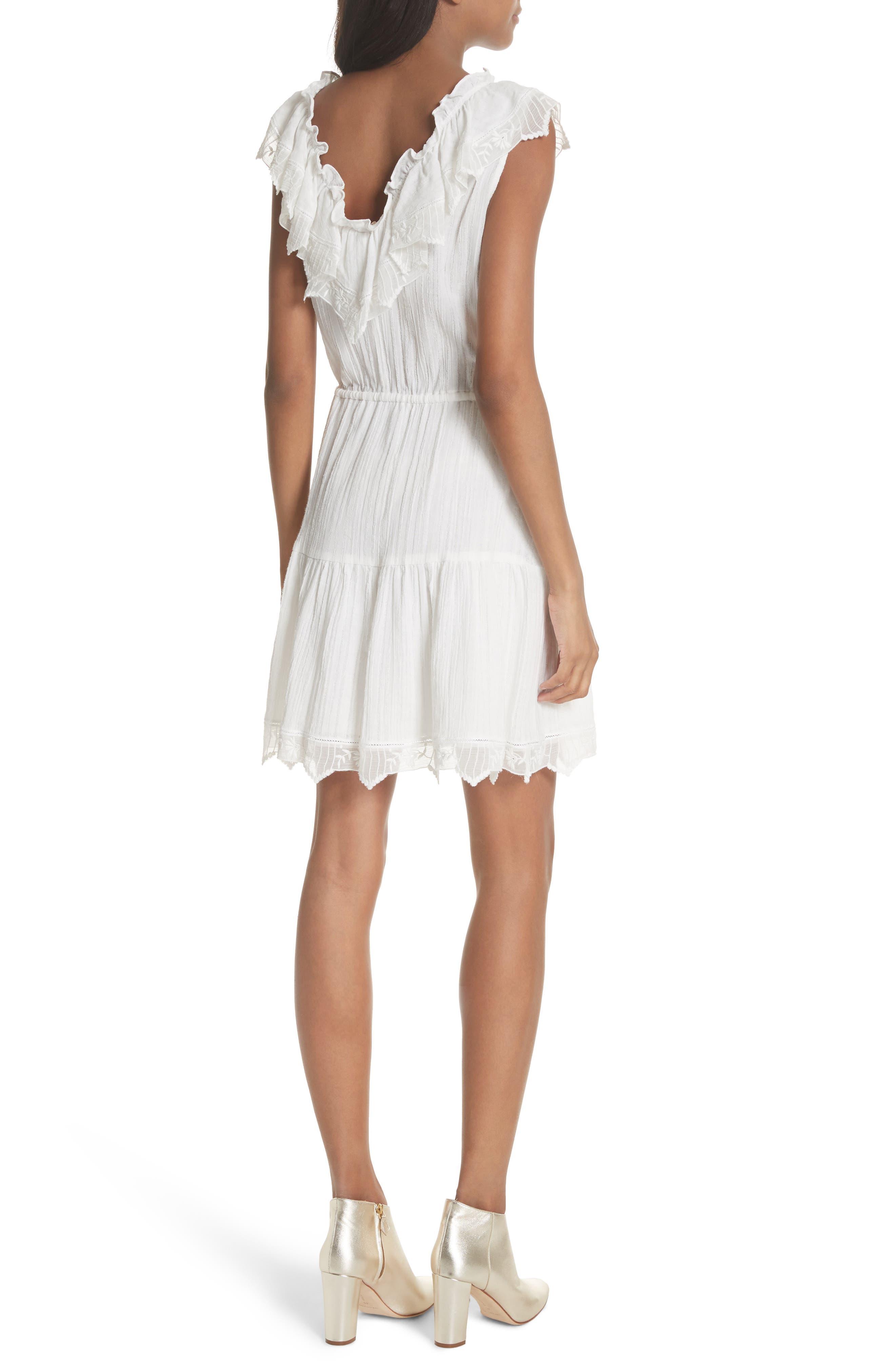 Mariana Ruffled Dress,                             Alternate thumbnail 2, color,                             Milk