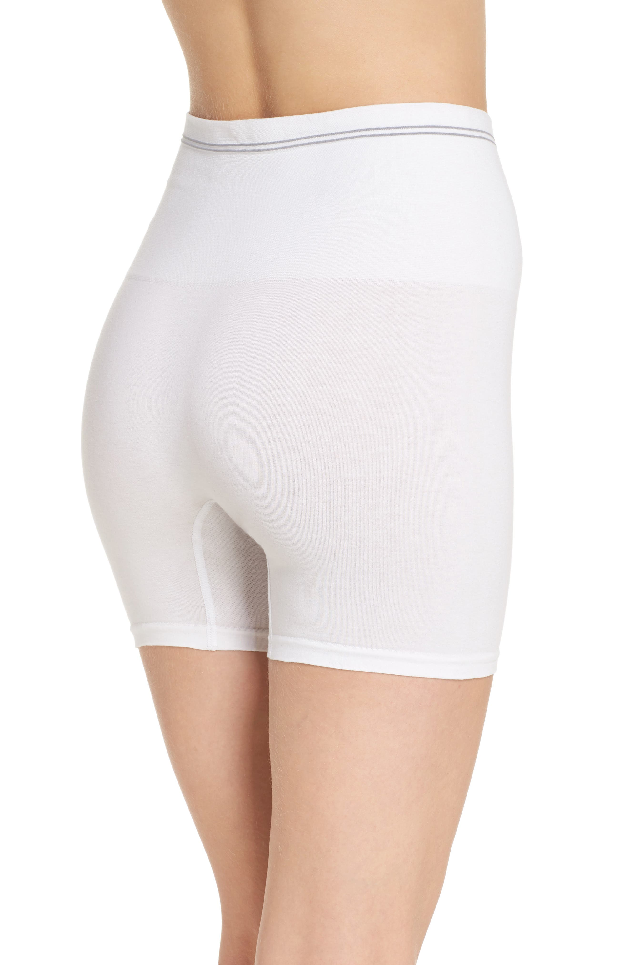 Seamless Shaping Shorts,                             Alternate thumbnail 2, color,                             White