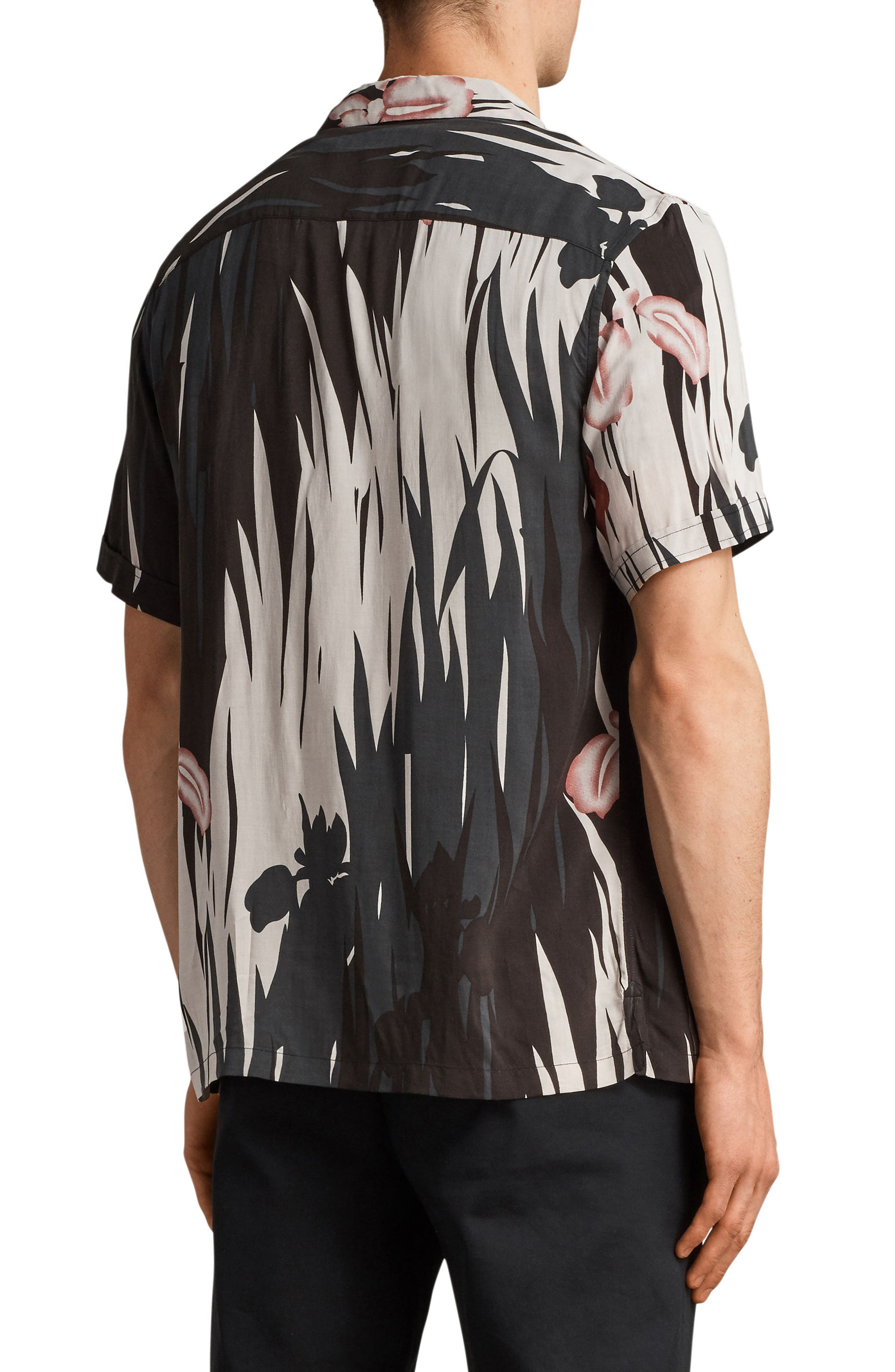 Nahiku Slim Fit Sport Shirt,                             Alternate thumbnail 2, color,                             Black