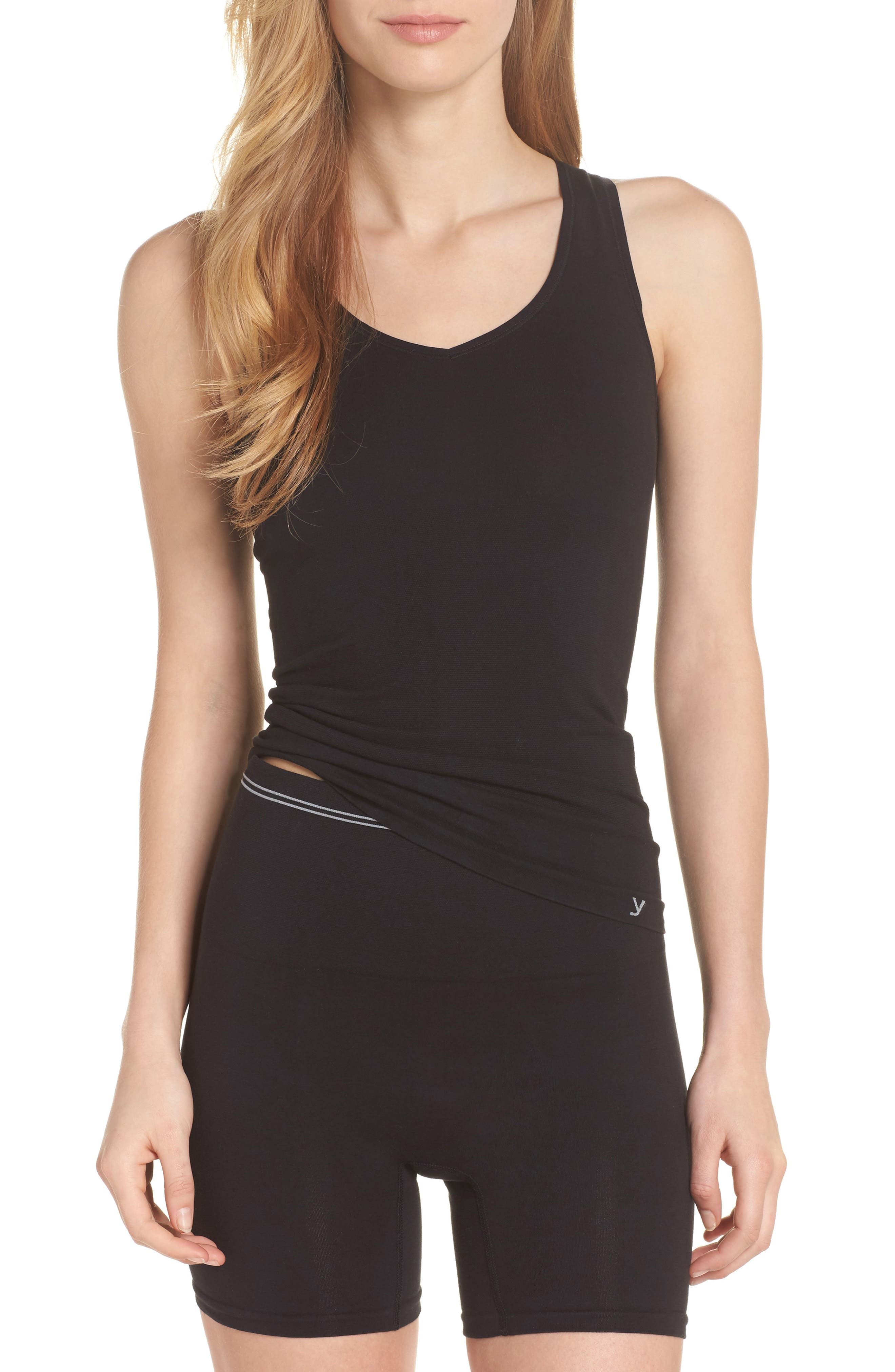 Seamless Tank,                             Alternate thumbnail 5, color,                             Black