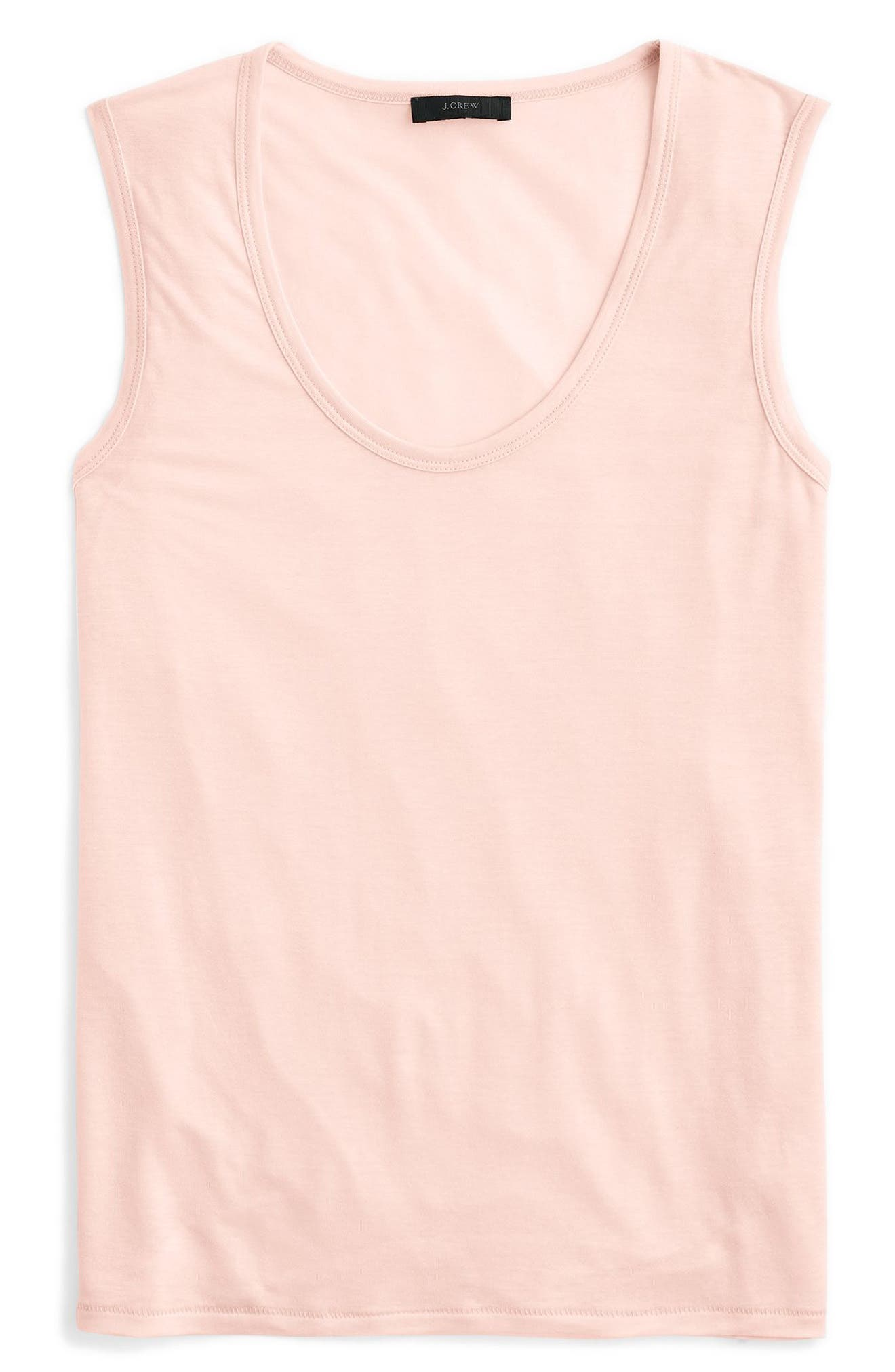 J.Crew Scoopneck Drapey Tank,                             Alternate thumbnail 7, color,                             Light Shell