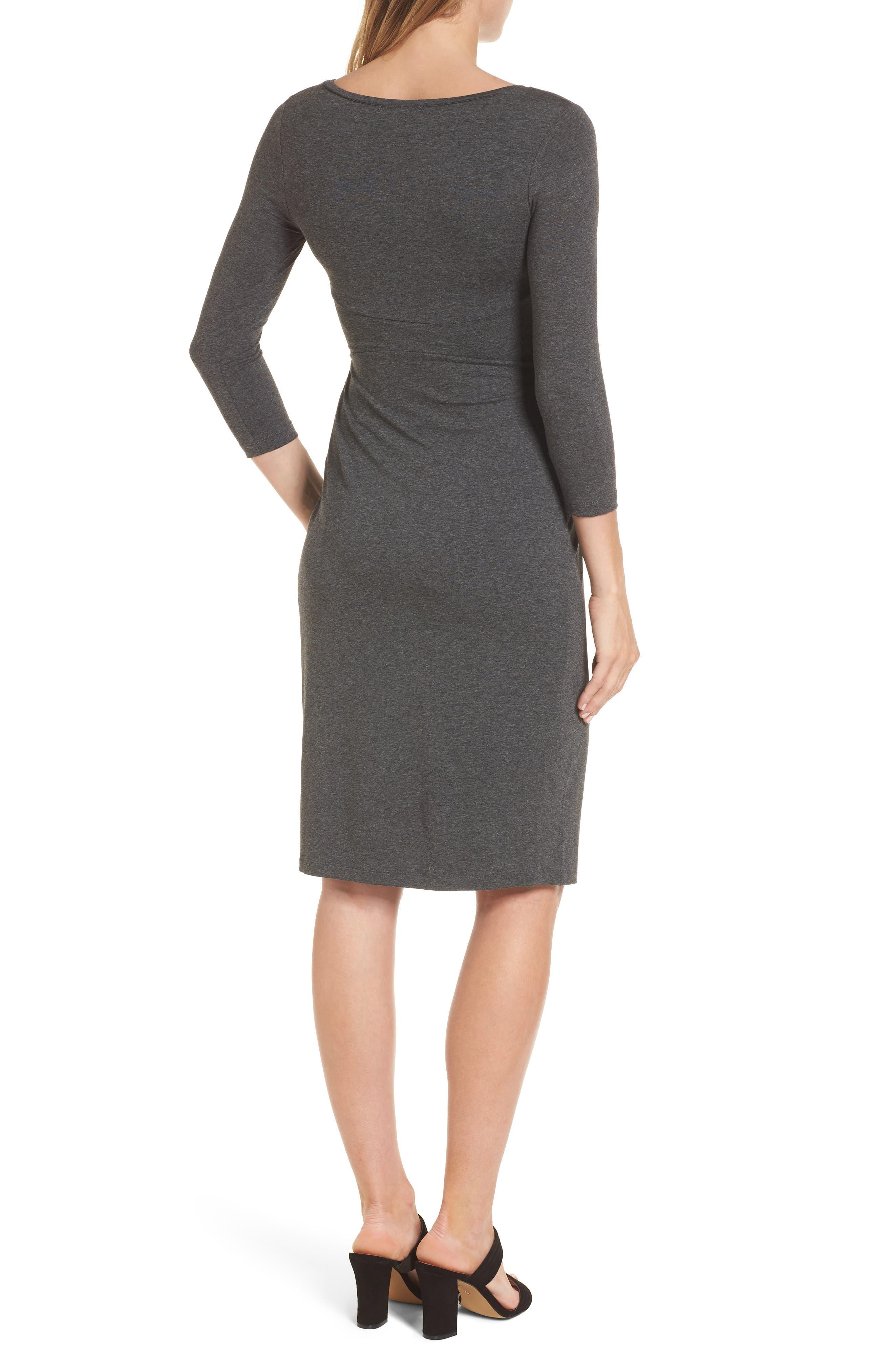 Ivybridge Jersey Maternity Dress,                             Alternate thumbnail 2, color,                             Dark Grey Marl