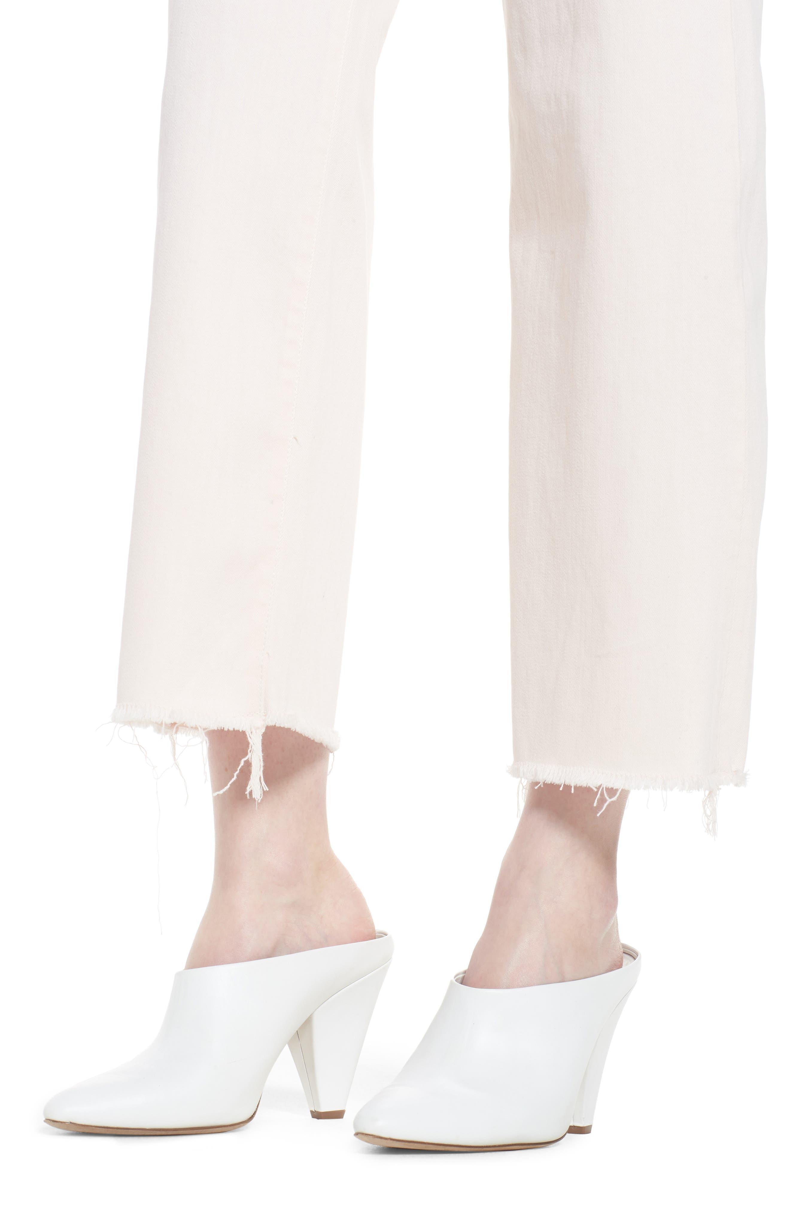 Hepburn Ankle Wide Leg Jeans,                             Alternate thumbnail 4, color,                             Blush Pink