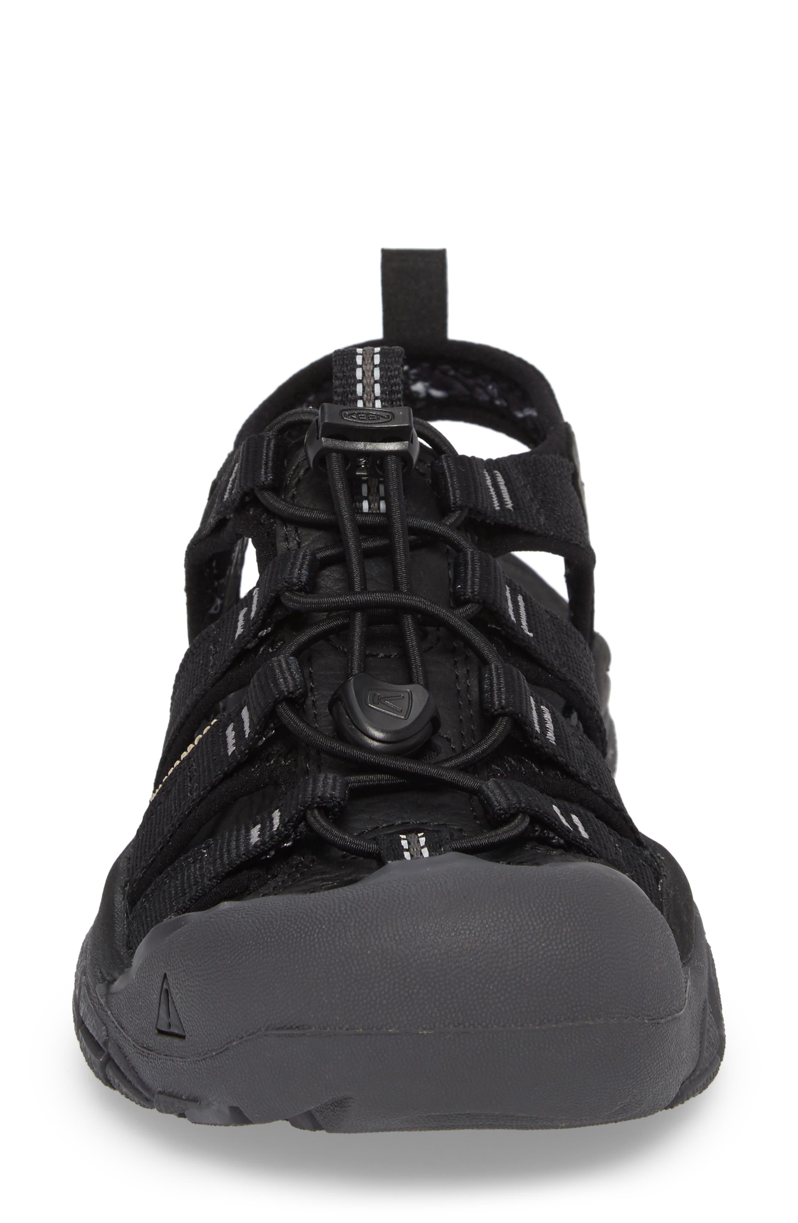 Newport Eco Waterproof Sandal,                             Alternate thumbnail 4, color,                             Black/ Magnet