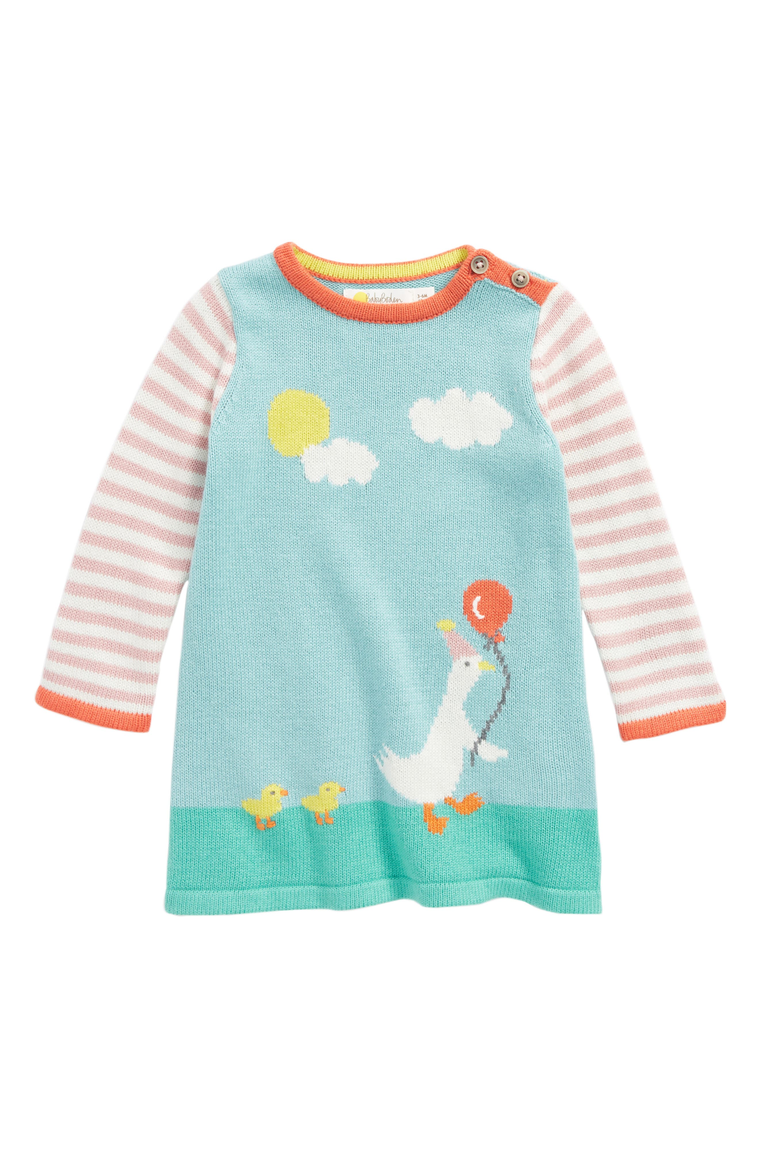 Mini Boden Ducklings Knit Dress (Baby Girls & Toddler Girls)