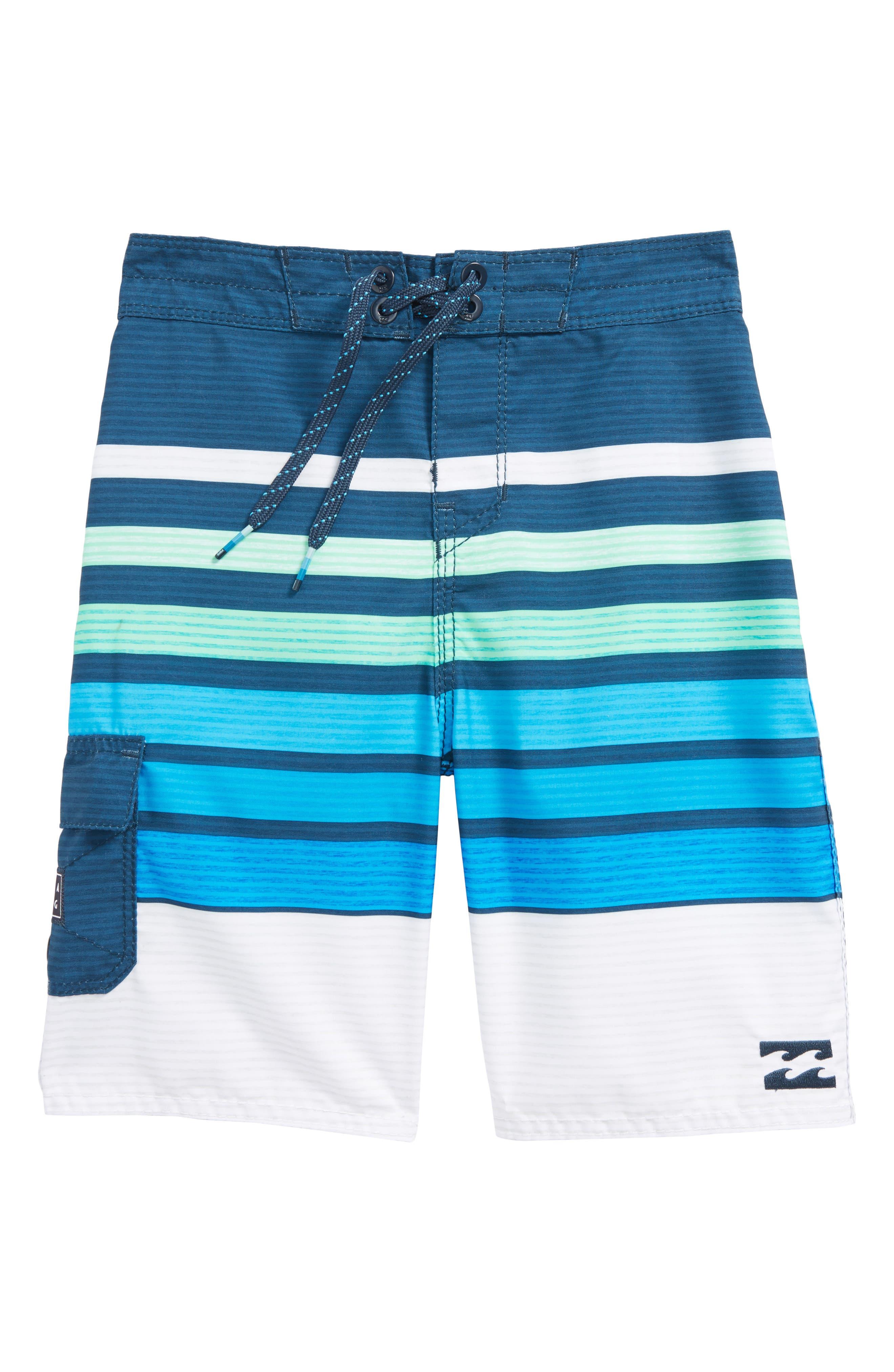 All Day OG Stripe Board Shorts,                             Main thumbnail 1, color,                             Blue