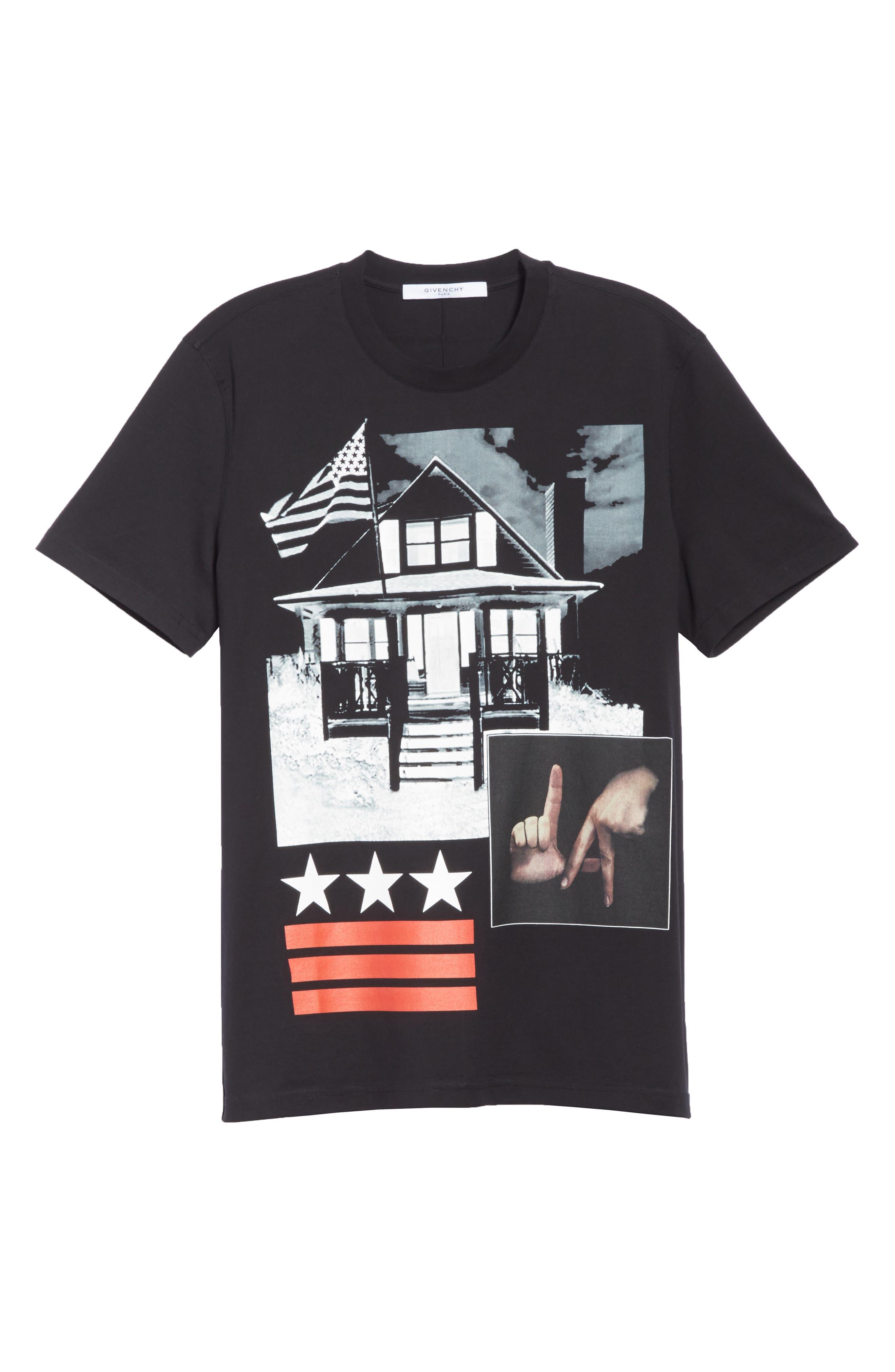 LA House Graphic T-Shirt,                             Alternate thumbnail 6, color,                             Black