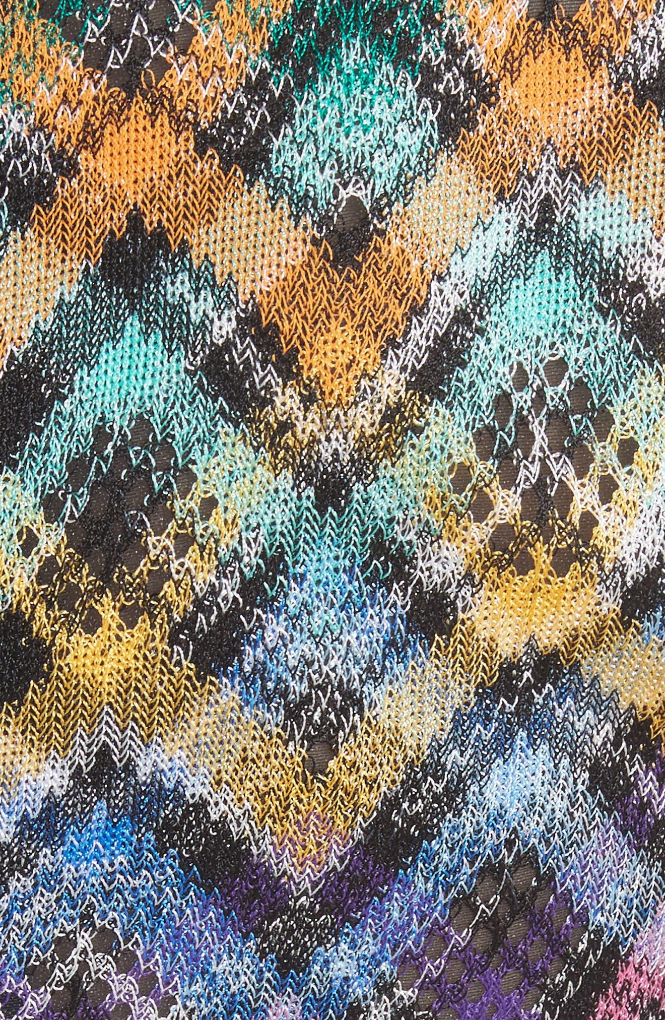 Plaid Knit Fit & Flare Dress,                             Alternate thumbnail 5, color,                             Multi