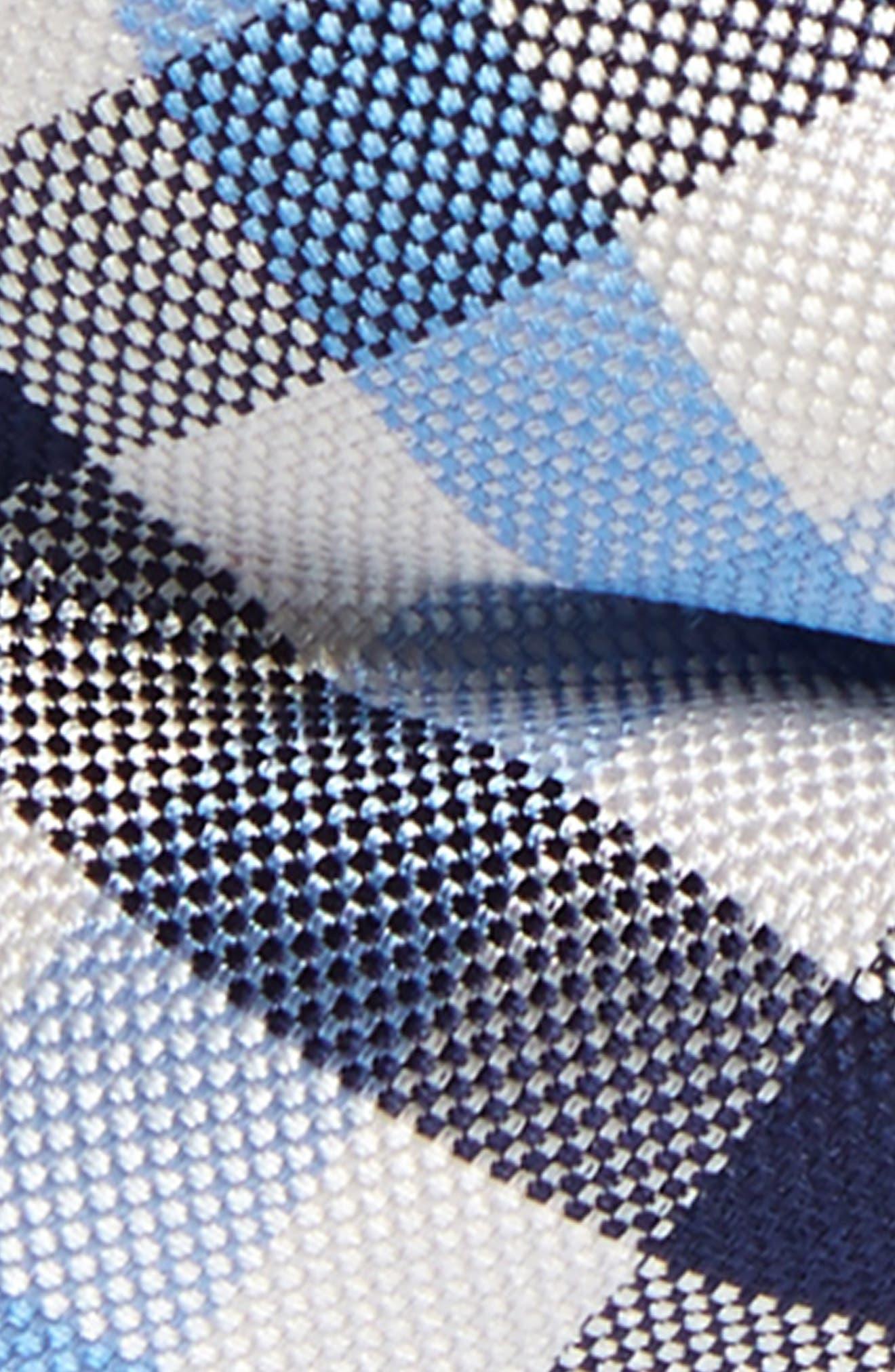 Window Plaid Silk Bow Tie,                             Alternate thumbnail 2, color,                             Light Blue