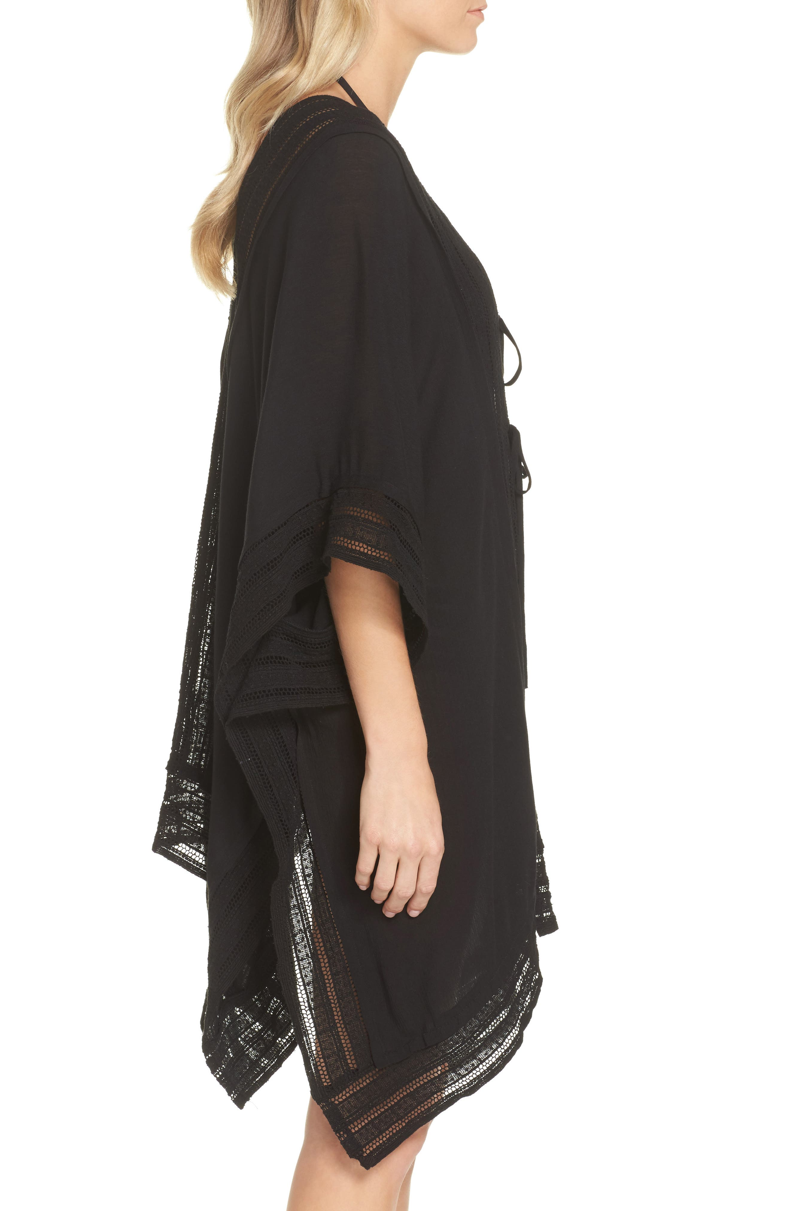 Serendipity Cover-Up Tunic,                             Alternate thumbnail 3, color,                             Black