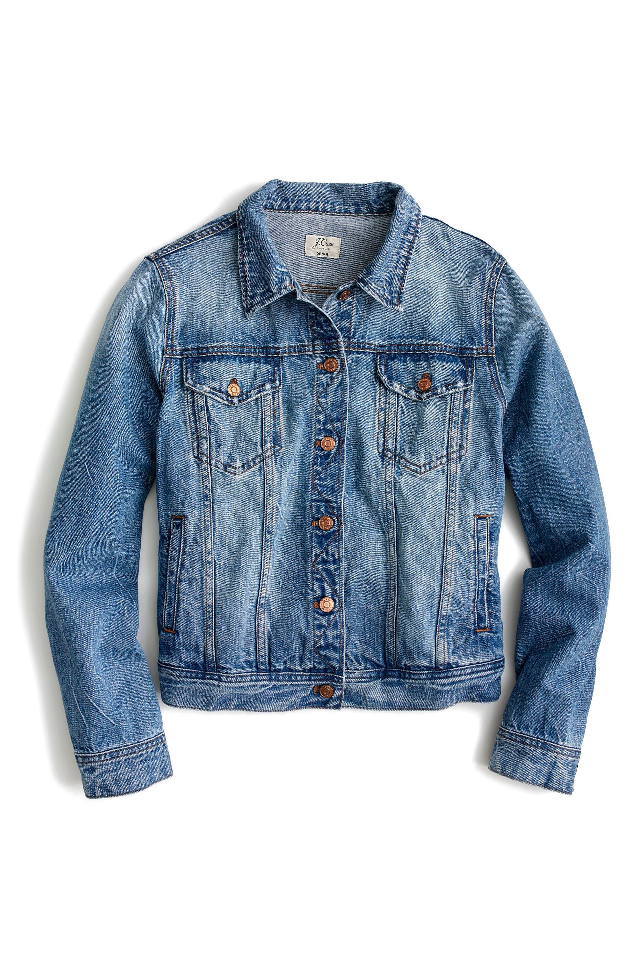 Classic Denim Jacket,                             Alternate thumbnail 2, color,                             Light Patriot Wash
