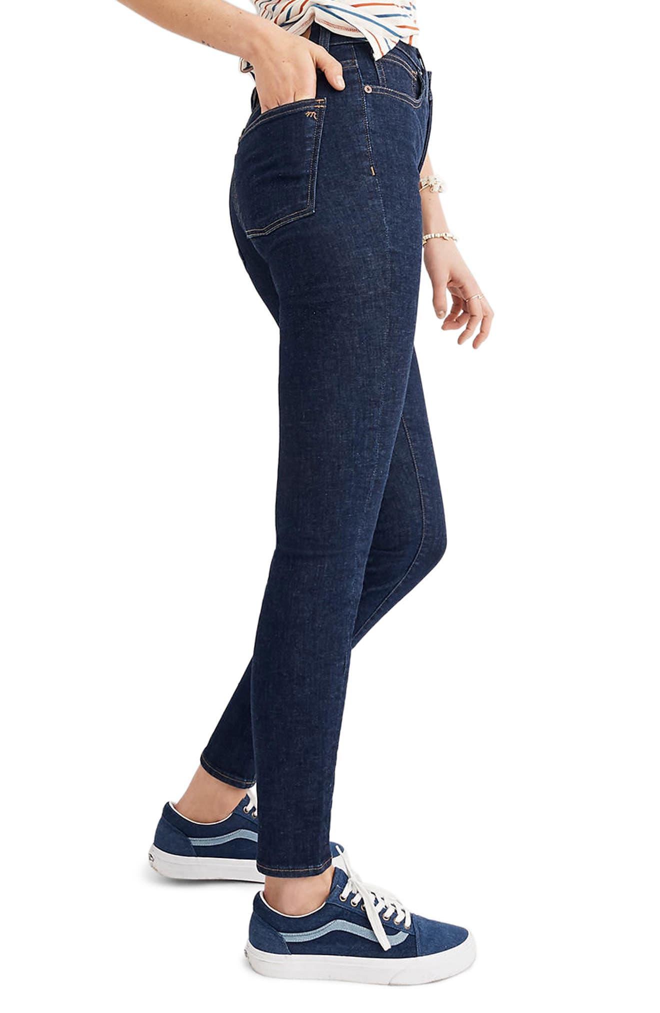 Alternate Image 2  - Madewell Curvy High Waist Skinny Jeans (Lucille)