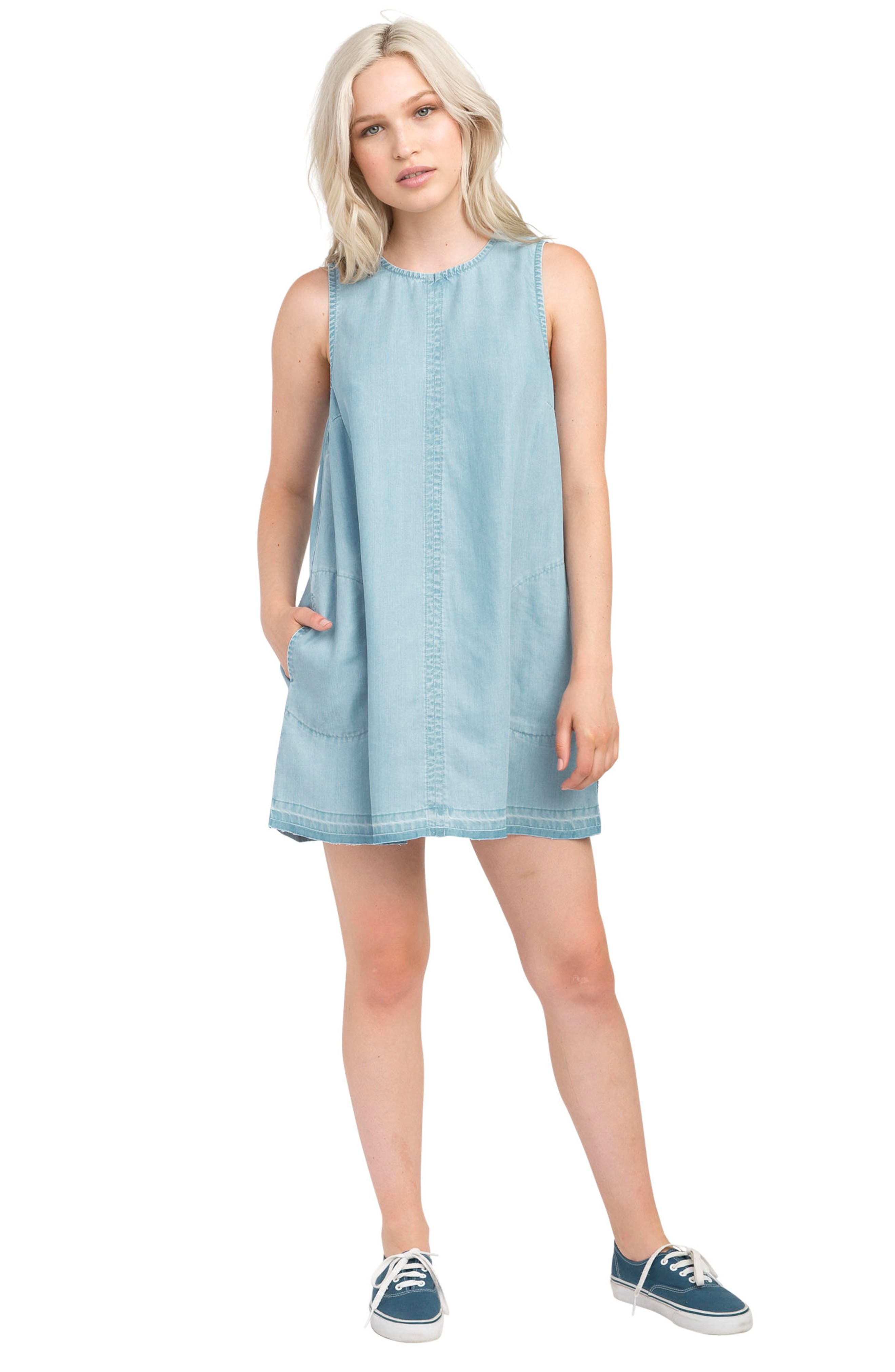 Release Chambray Shift Dress,                             Alternate thumbnail 2, color,                             Chambray
