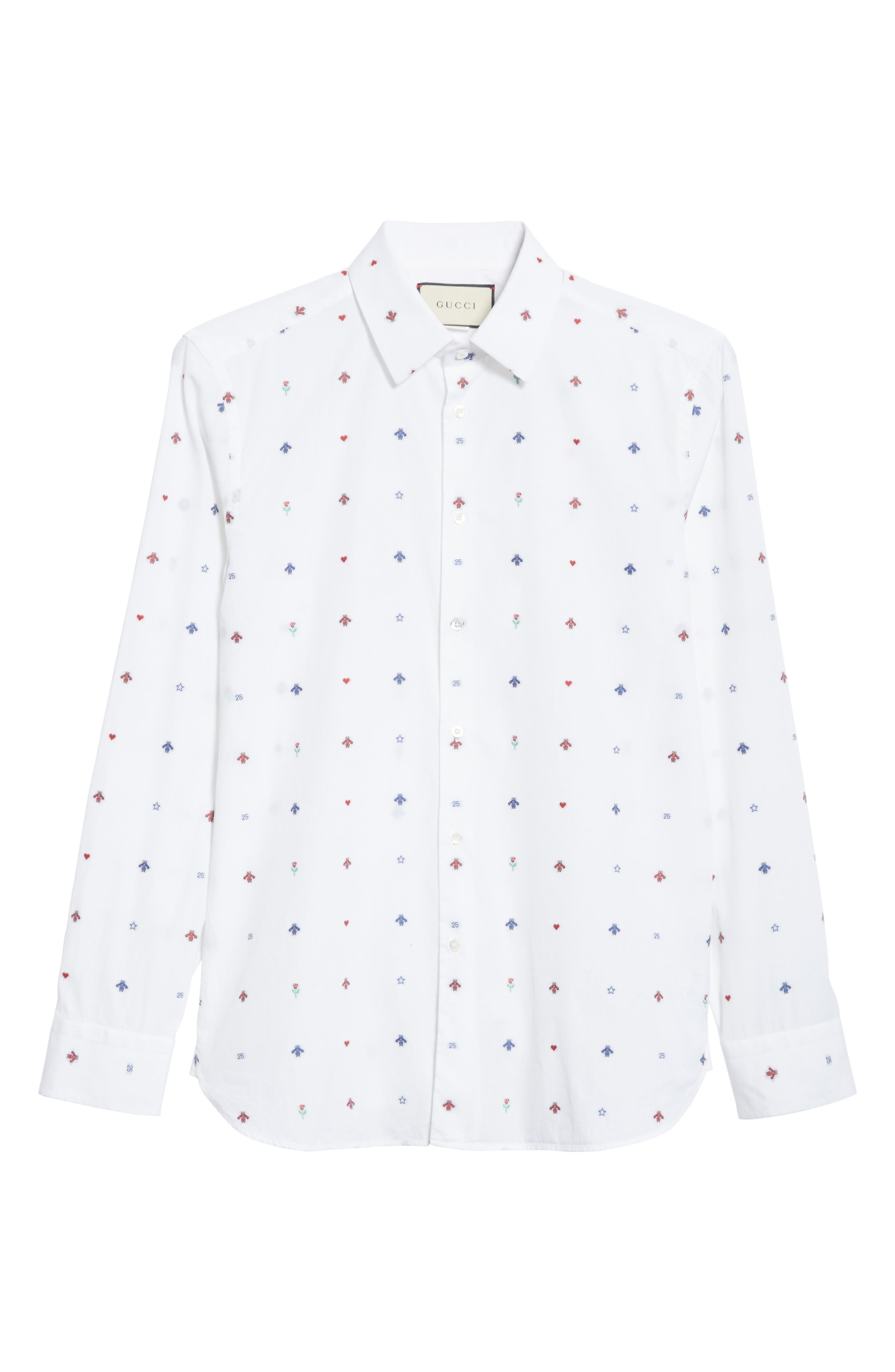 Alternate Image 6  - Gucci Allover Bee Print Woven Shirt