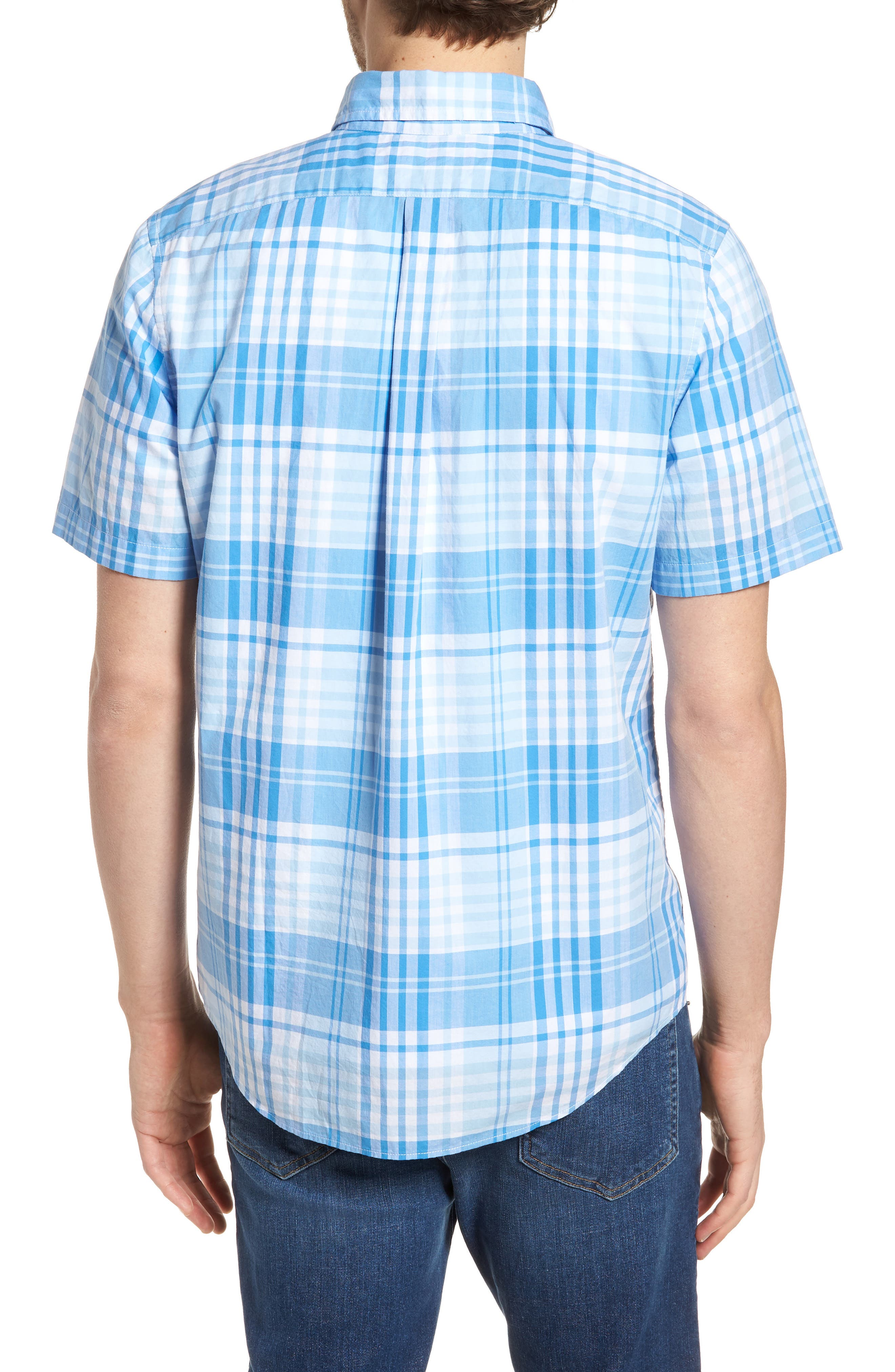 Crawfish Plaid Slim Fit Sport Shirt,                             Alternate thumbnail 2, color,                             Jake Blue